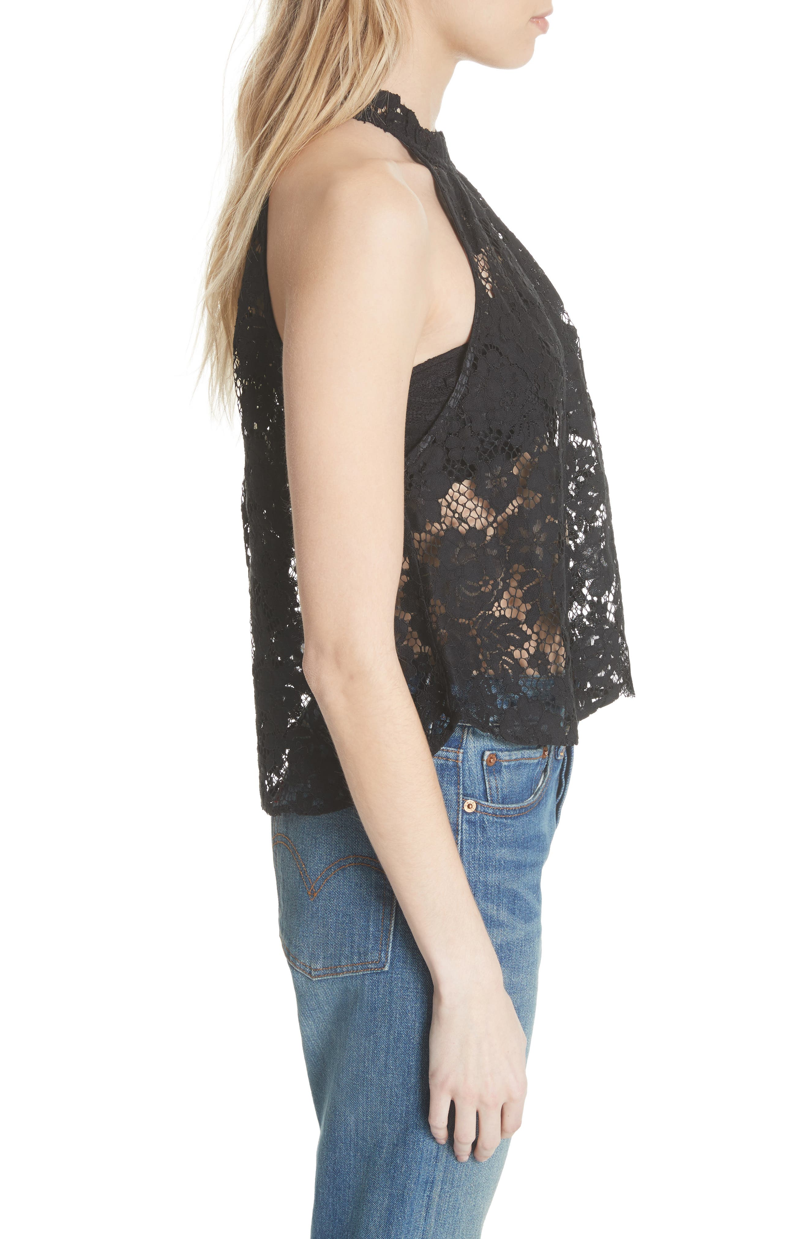 Sweet Meadow Dreams Lace Top,                             Alternate thumbnail 3, color,                             001