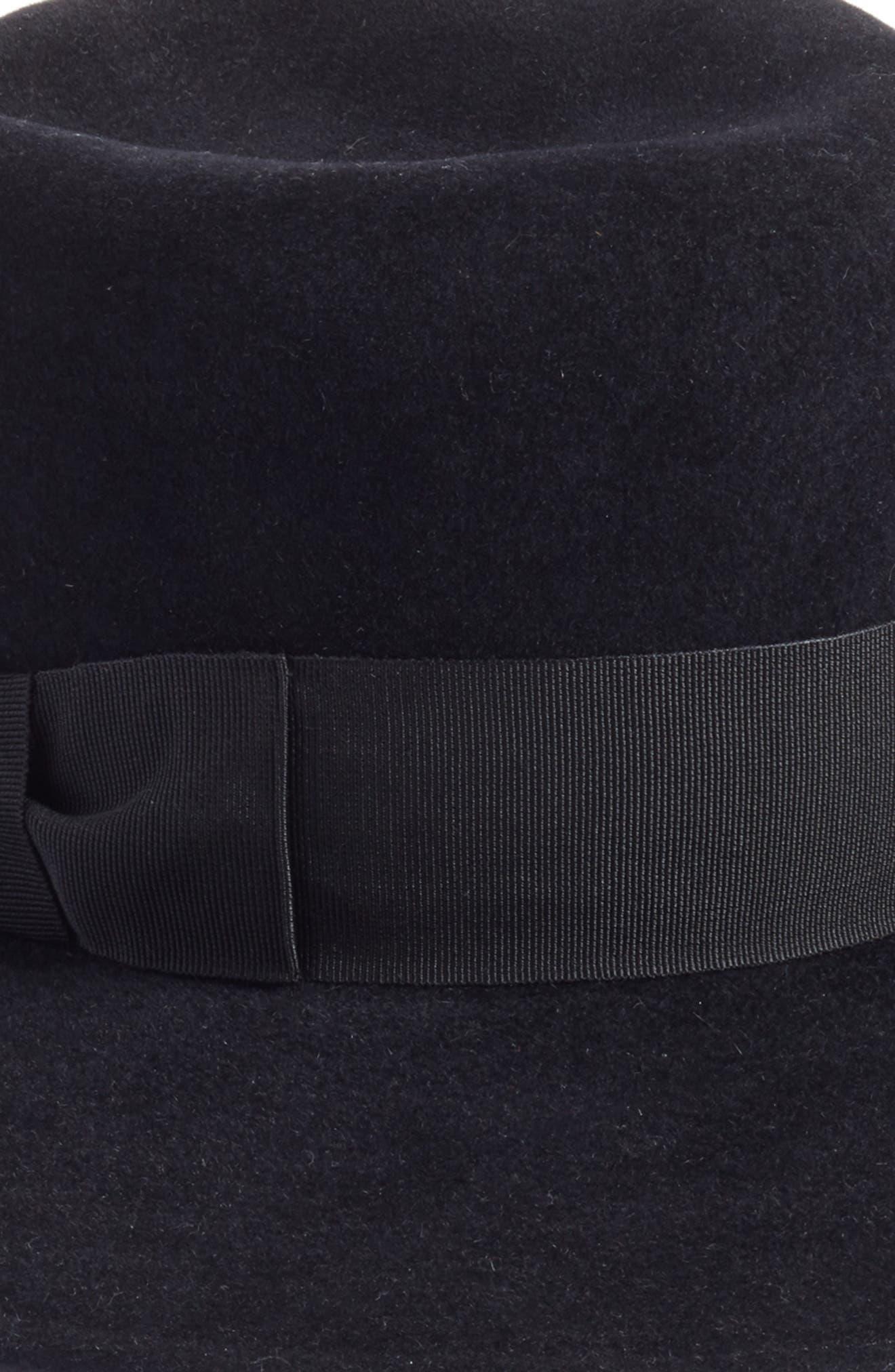 Velour Padre Fur Felt Wide Brim Hat,                             Alternate thumbnail 2, color,                             001