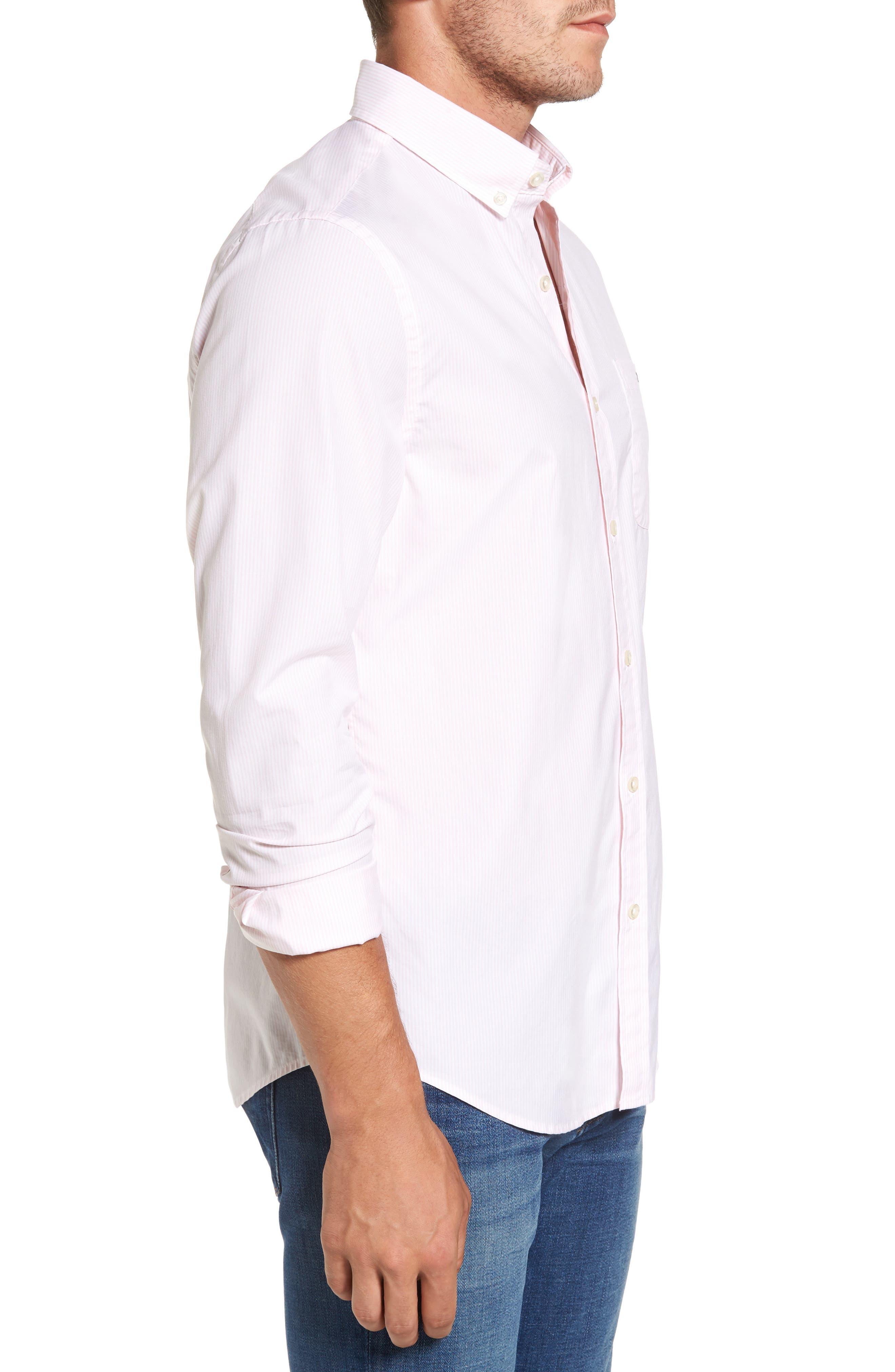 Seabird Stripe Tucker Slim Fit Sport Shirt,                             Alternate thumbnail 3, color,                             686