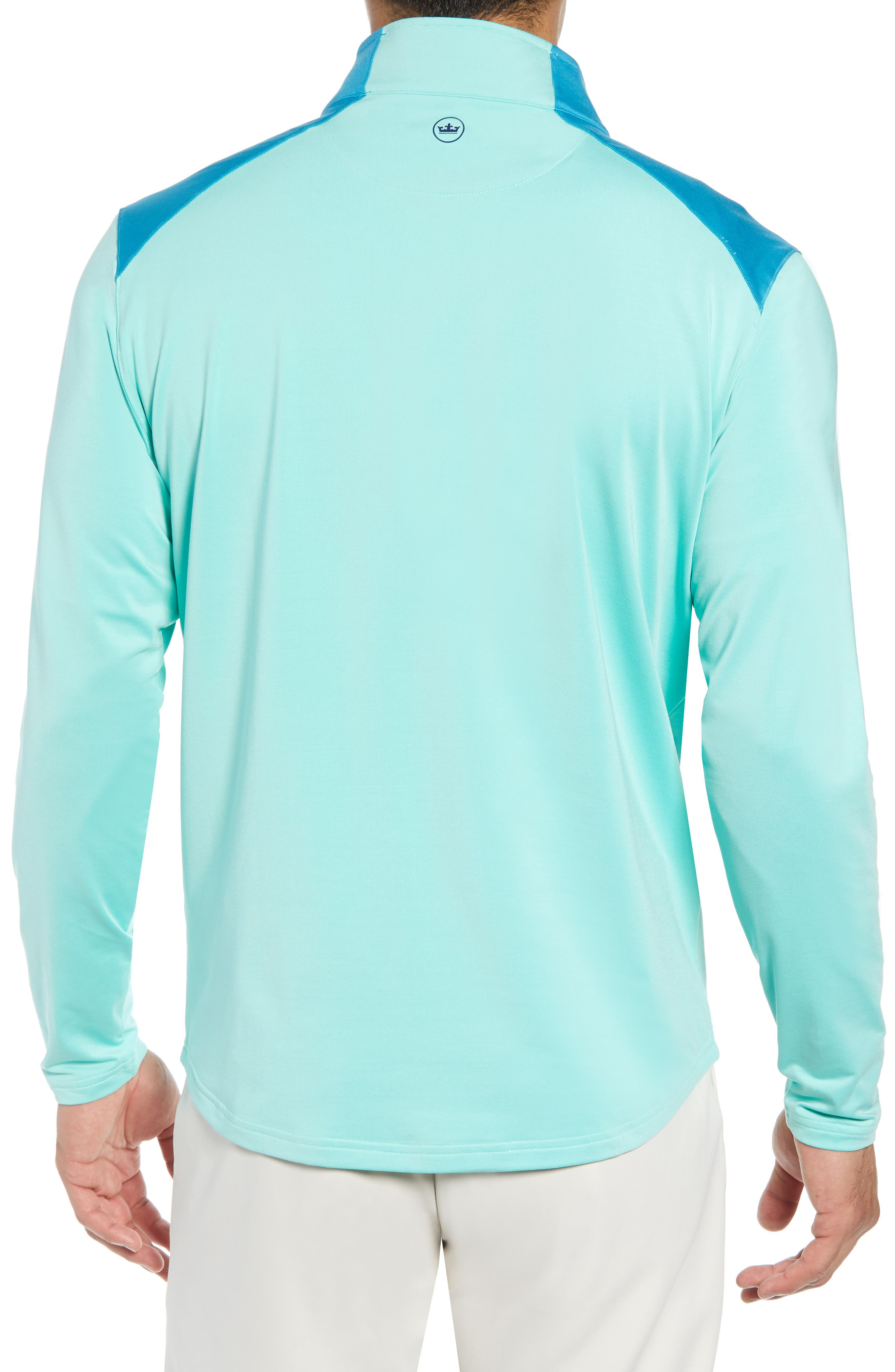 Quarter Zip Performance Pullover,                             Alternate thumbnail 2, color,                             TEAL