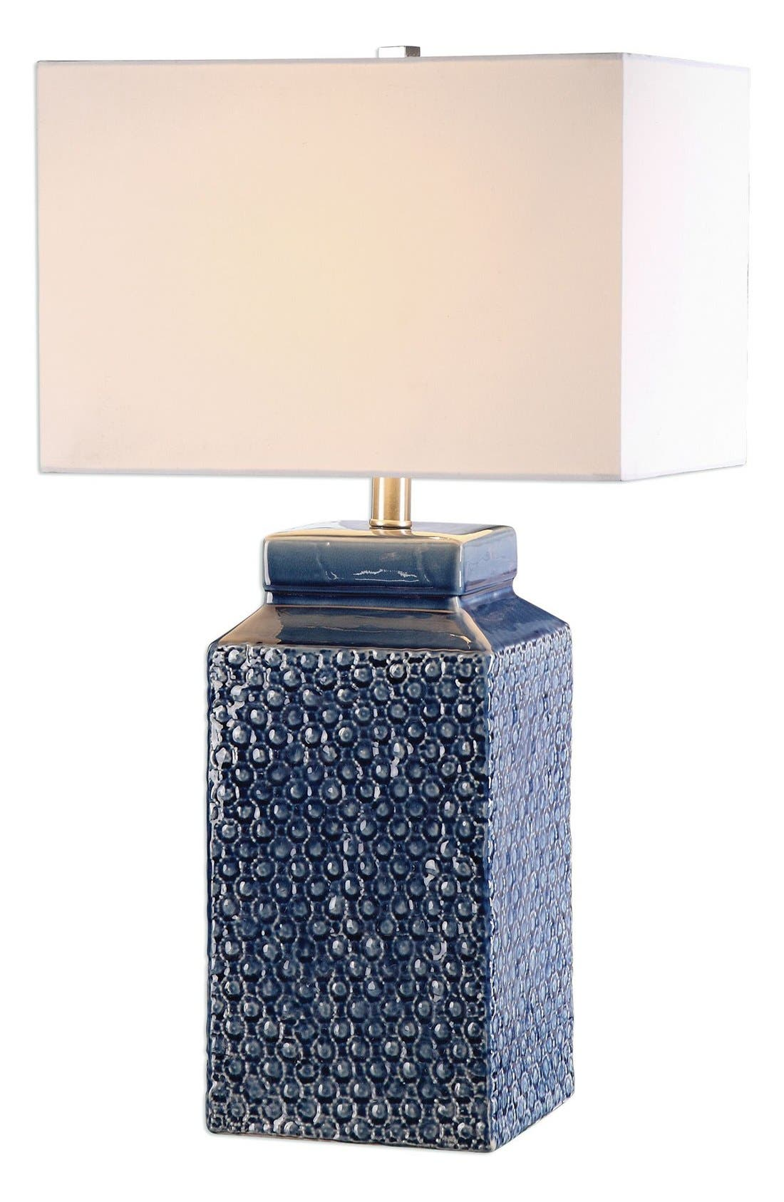 'Sapphire' Glazed Ceramic Table Lamp,                         Main,                         color,