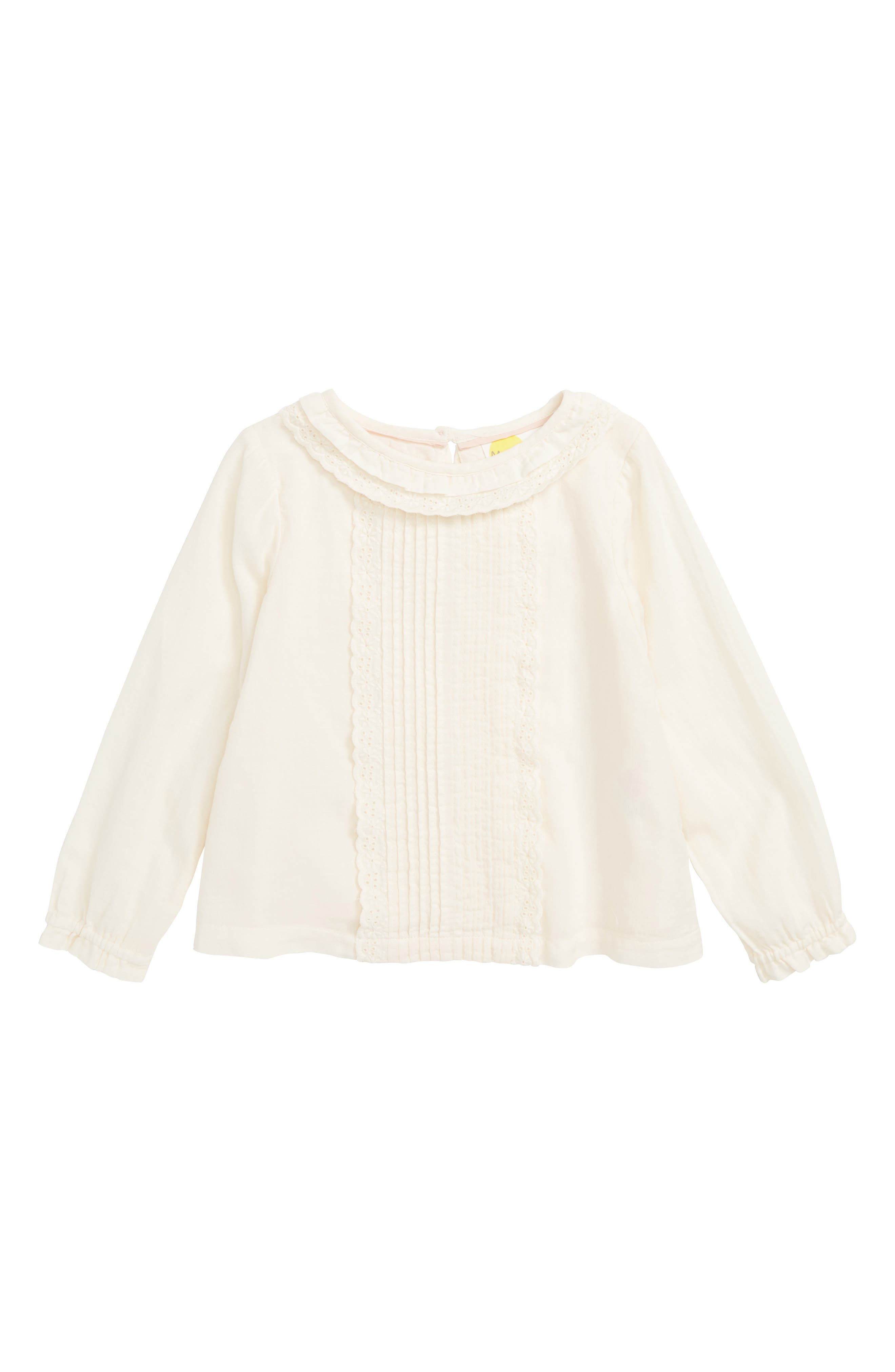 Detailed Woven Top,                         Main,                         color, IVO ECRU FRILL