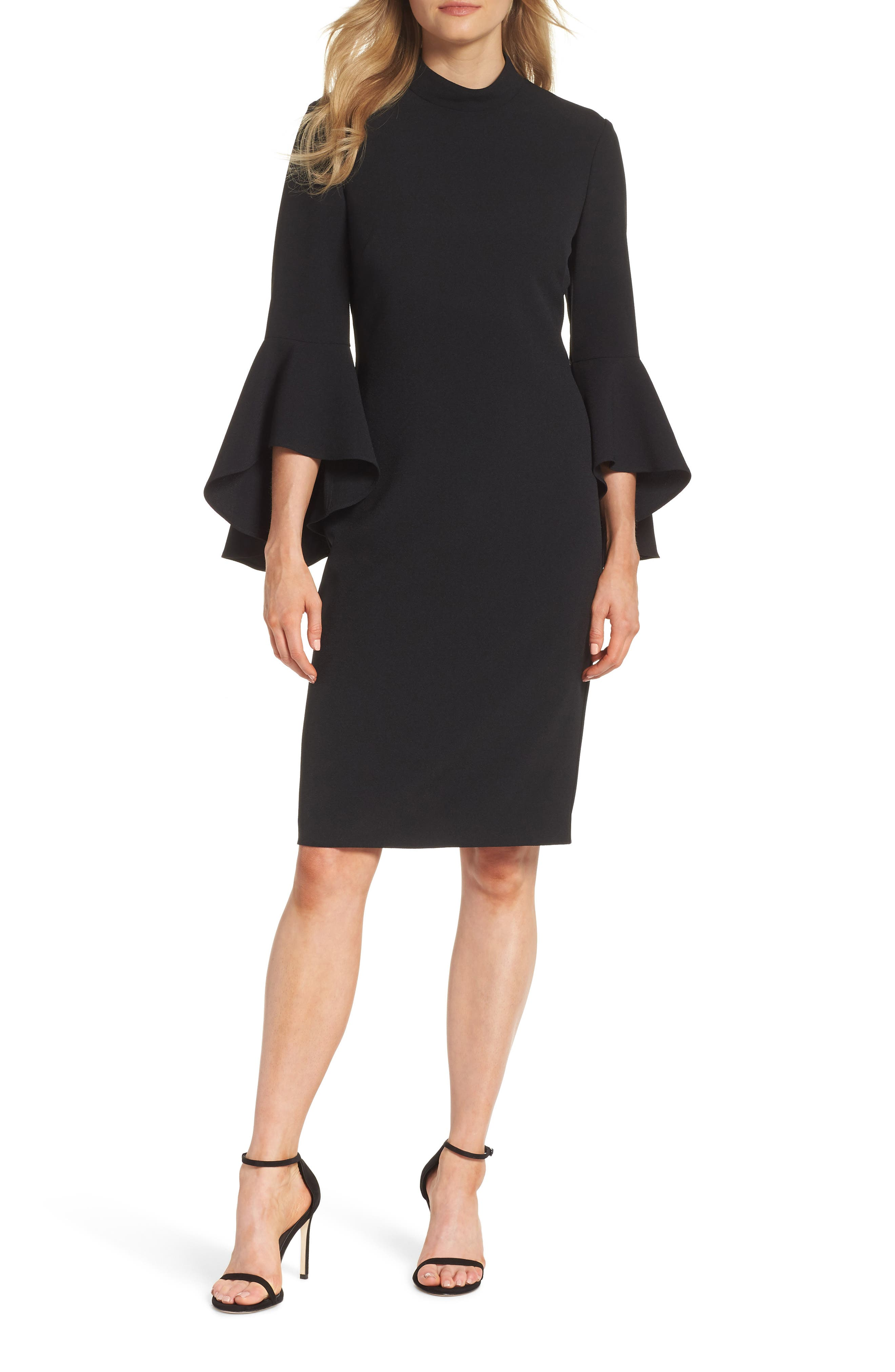 Eliza J Bell Sleeve Midi Dress