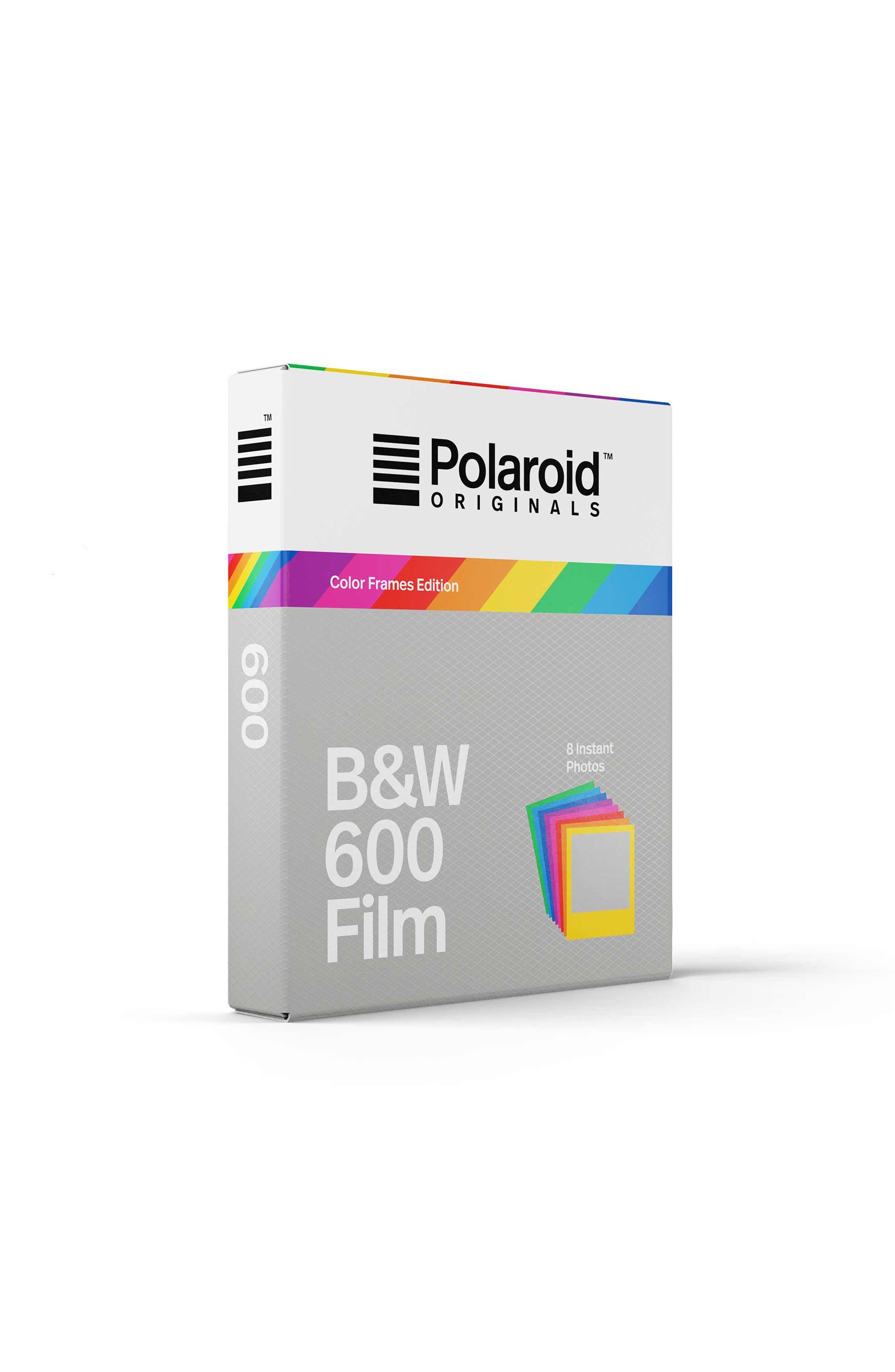 600 Multicolor Frame Black & White Instant Film,                             Alternate thumbnail 2, color,                             NONE