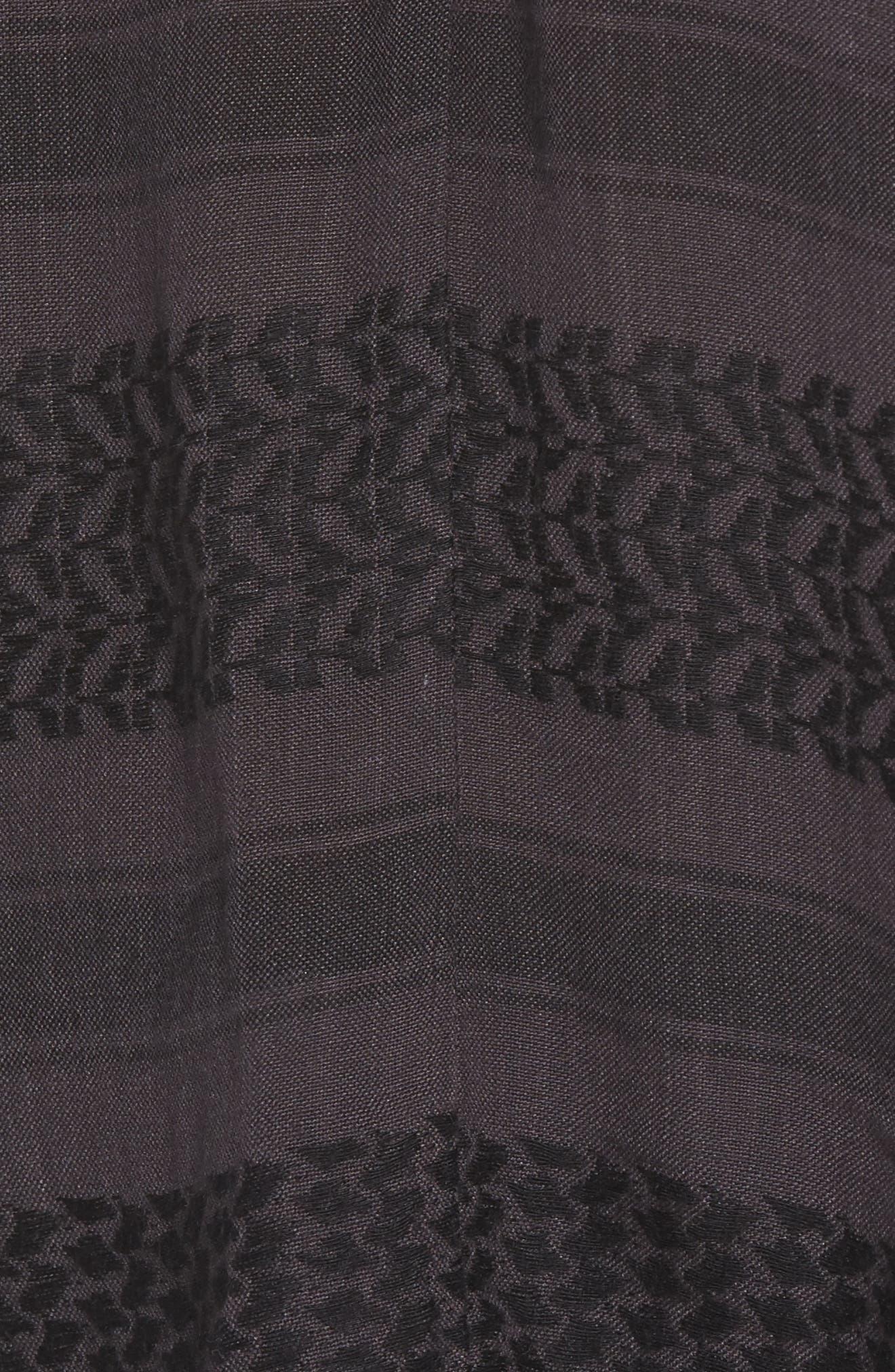 Lily Pullover Blouse,                             Alternate thumbnail 5, color,                             ONYX JACQUARD
