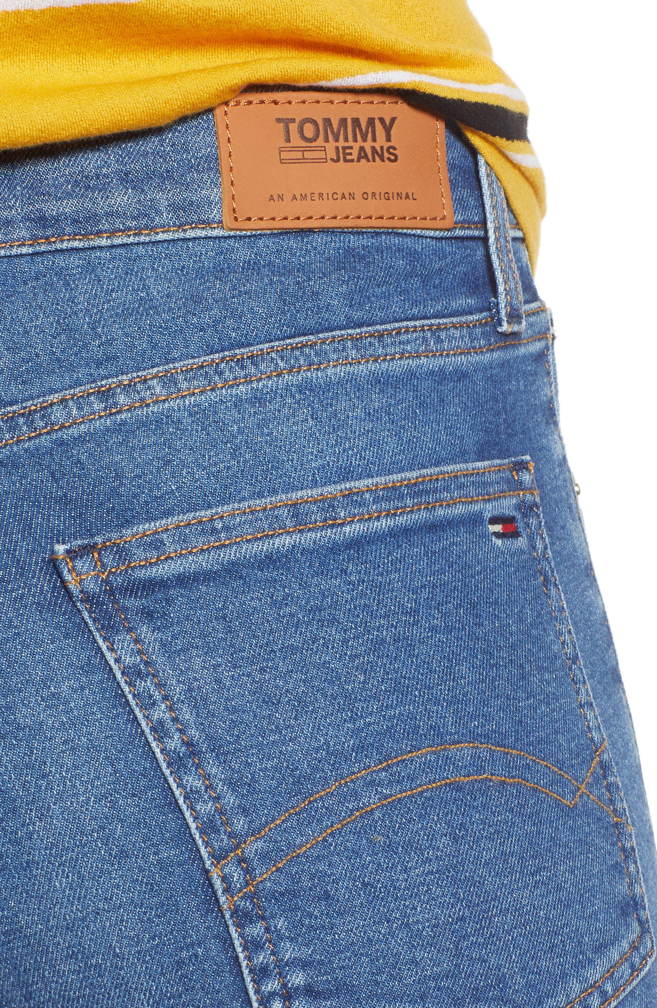 Izzy High Waist Slim Crop Jeans,                             Alternate thumbnail 4, color,                             400