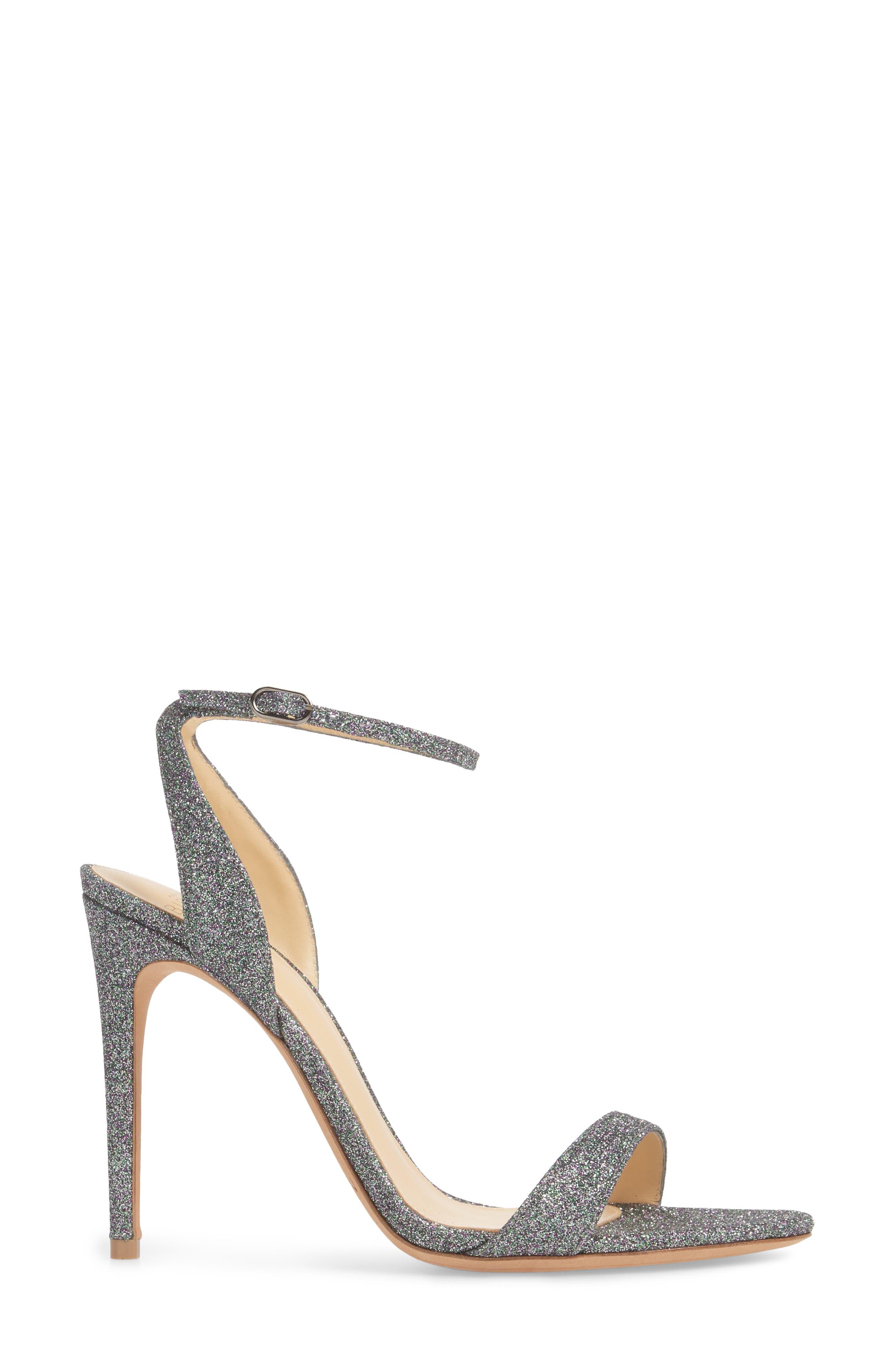 Santine Ankle Strap Sandal,                             Alternate thumbnail 3, color,                             SILVER