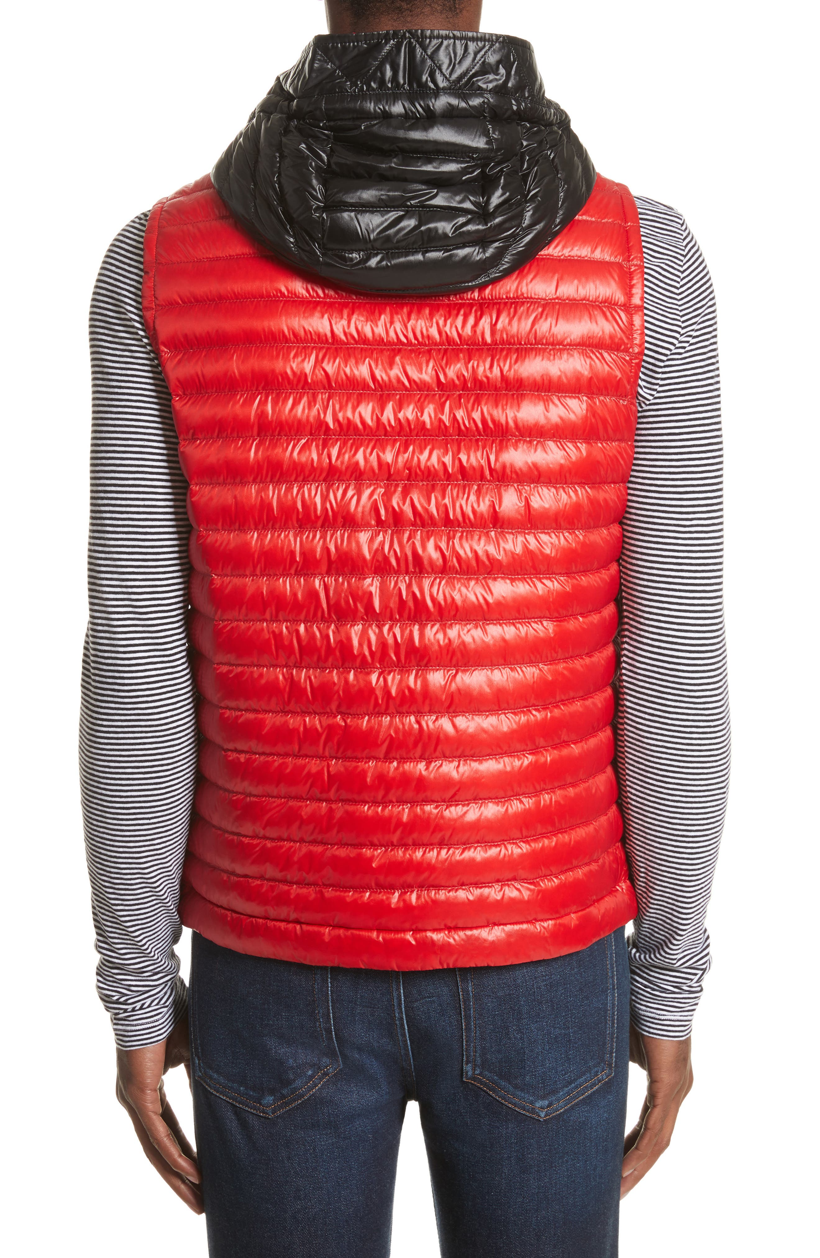 Aldridge Quilted Vest with Removable Hood,                             Alternate thumbnail 4, color,