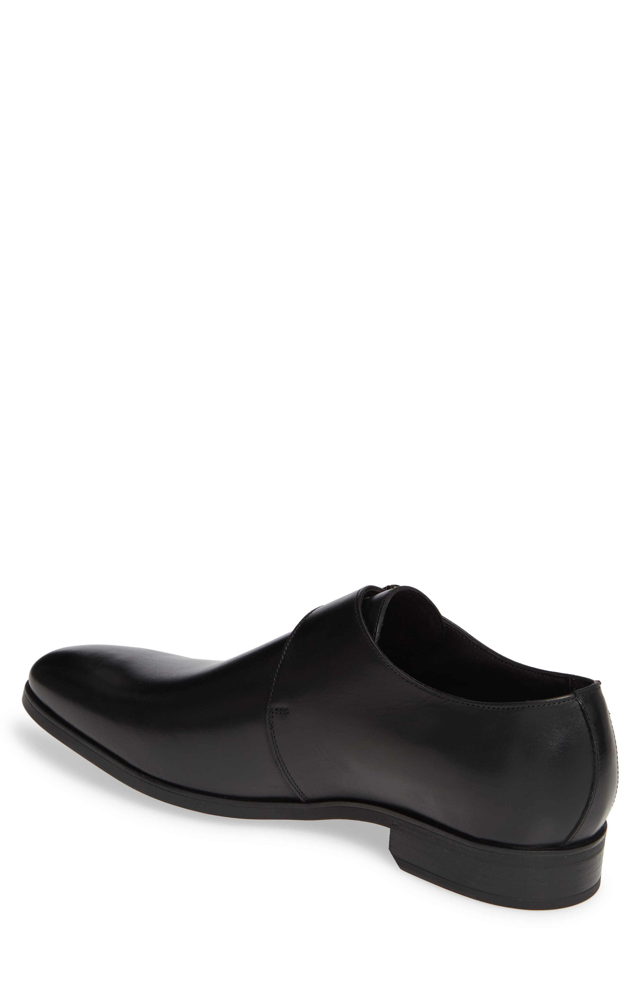 Scarpa Monk Strap Shoe,                             Alternate thumbnail 2, color,                             BLACK LEATHER