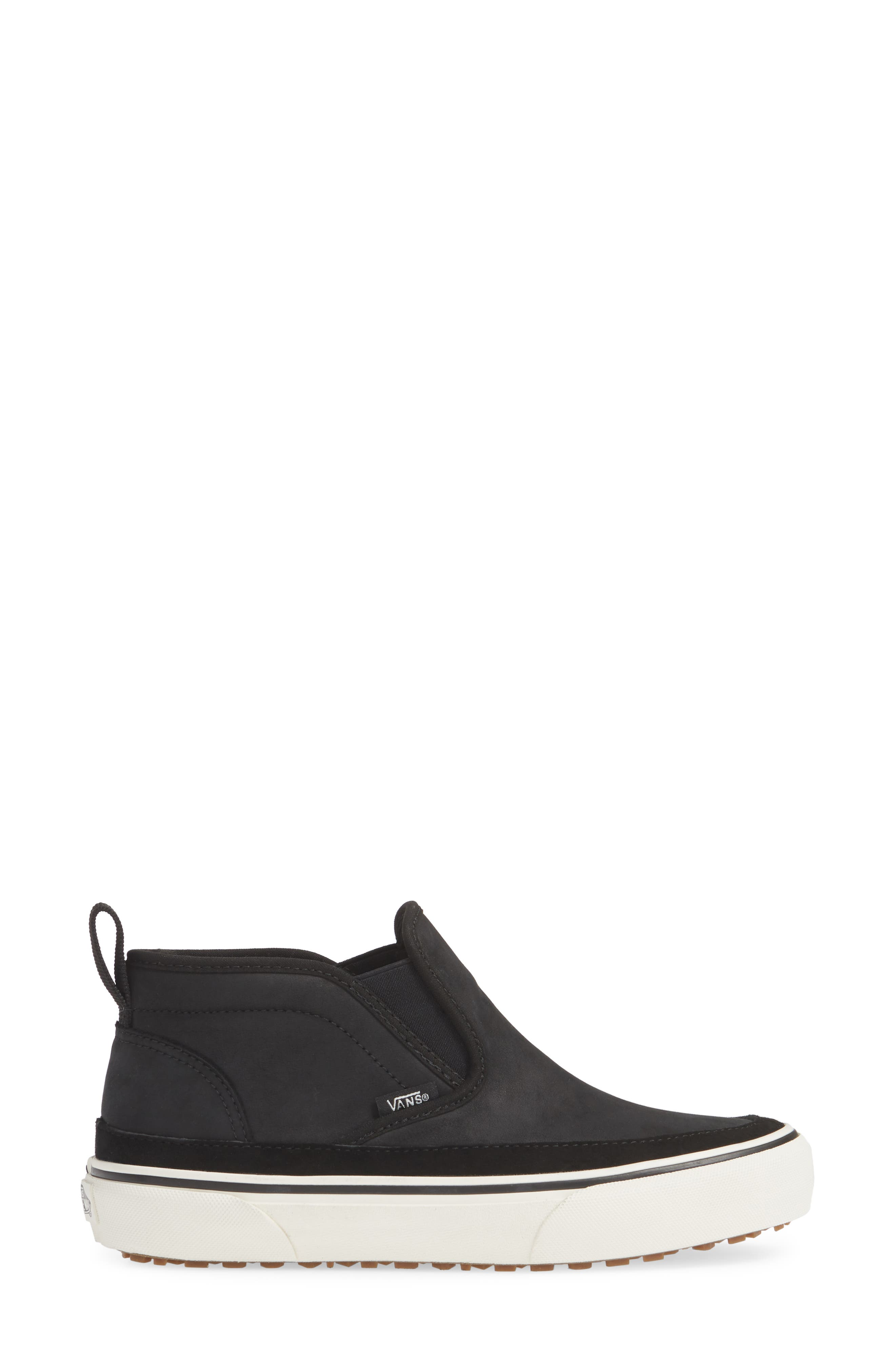 UA Authentic MTE Slip-On Sneaker,                             Alternate thumbnail 3, color,                             BLACK/ MARSHMALLOW