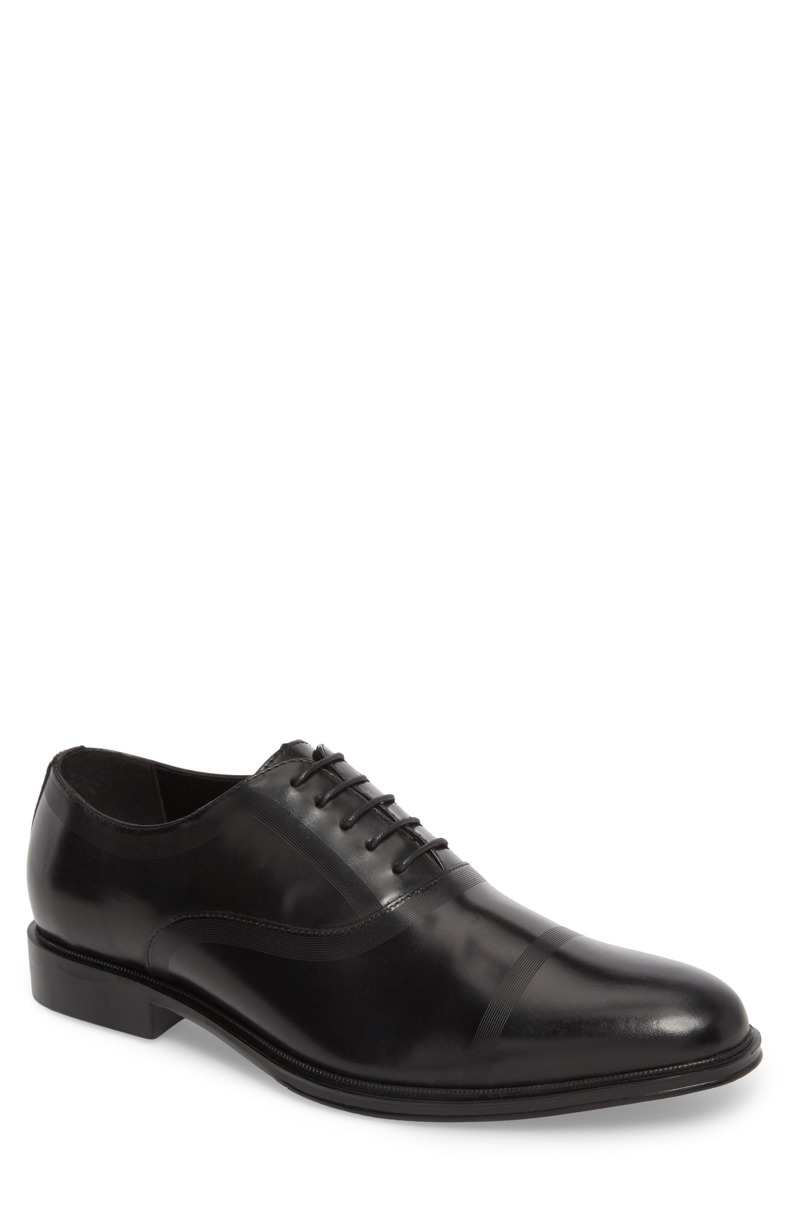 Zac Lace-Up Oxford,                         Main,                         color, BLACK
