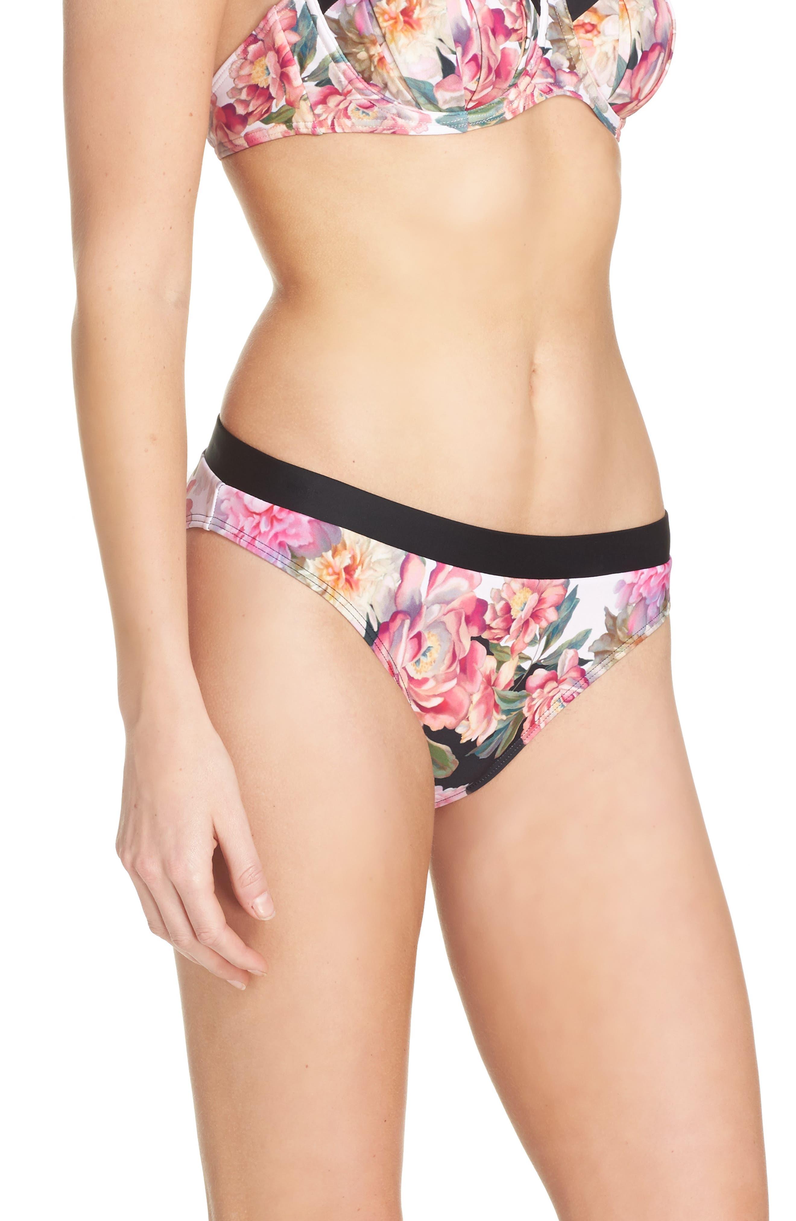 Painted Posie Bikini Bottoms,                             Alternate thumbnail 3, color,                             682
