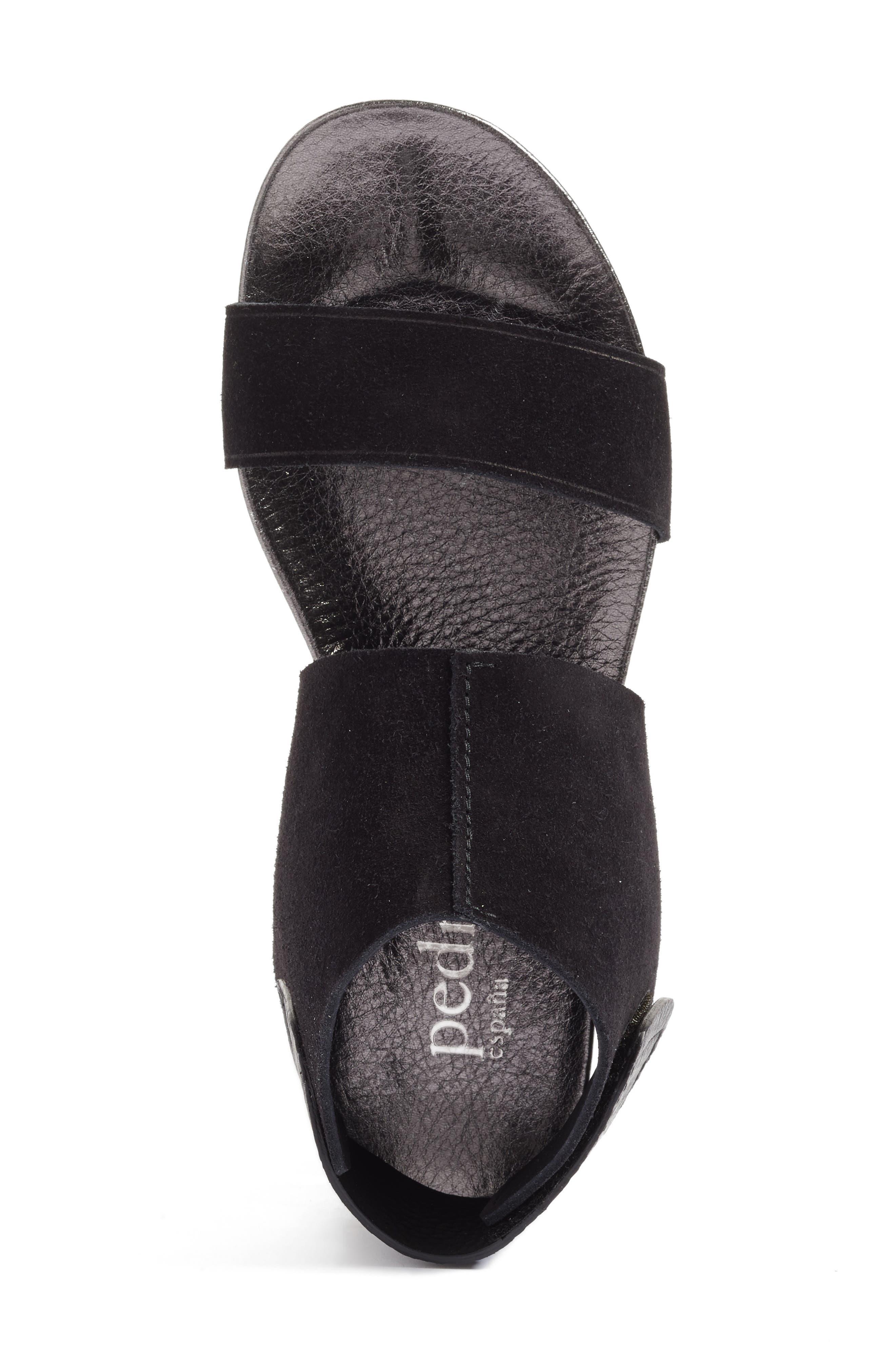 Ankle Cuff Sandal,                             Alternate thumbnail 5, color,                             001