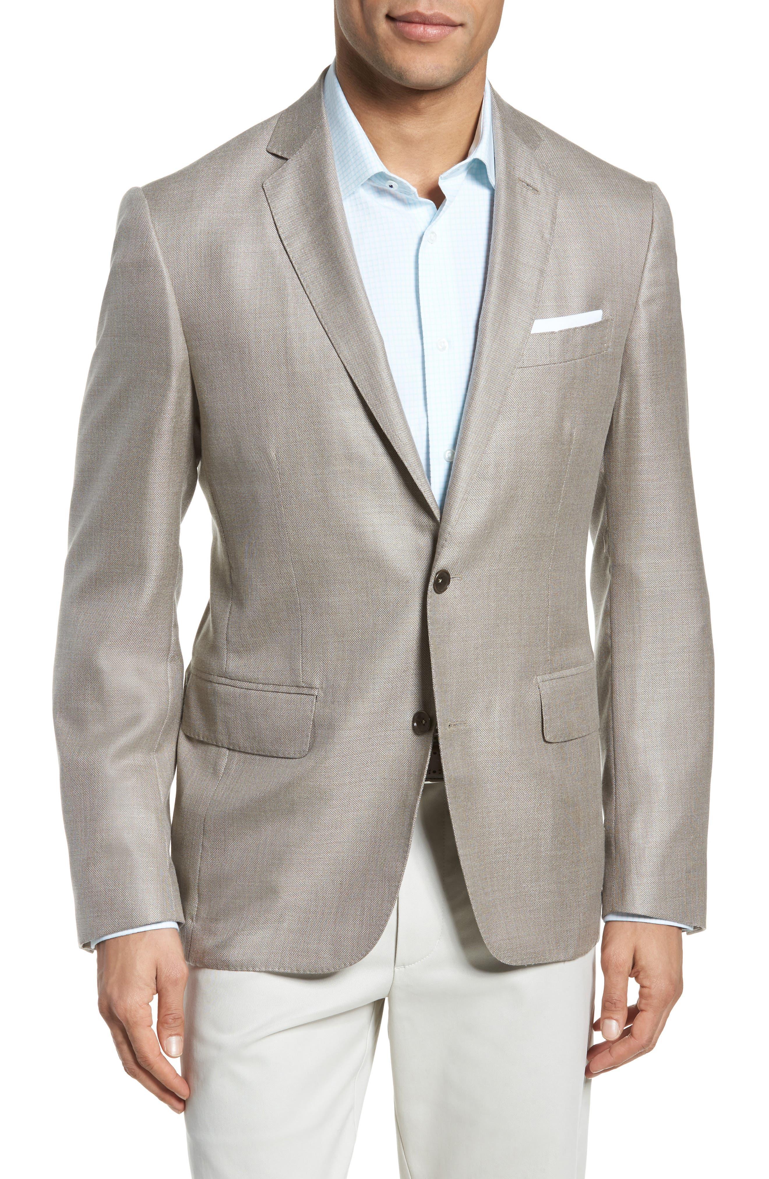 Trim Fit Cashmere & Silk Blazer,                             Main thumbnail 2, color,