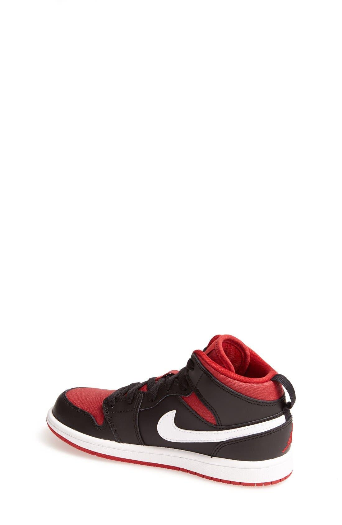 'Air Jordan 1' Mid Sneaker,                             Alternate thumbnail 3, color,                             003