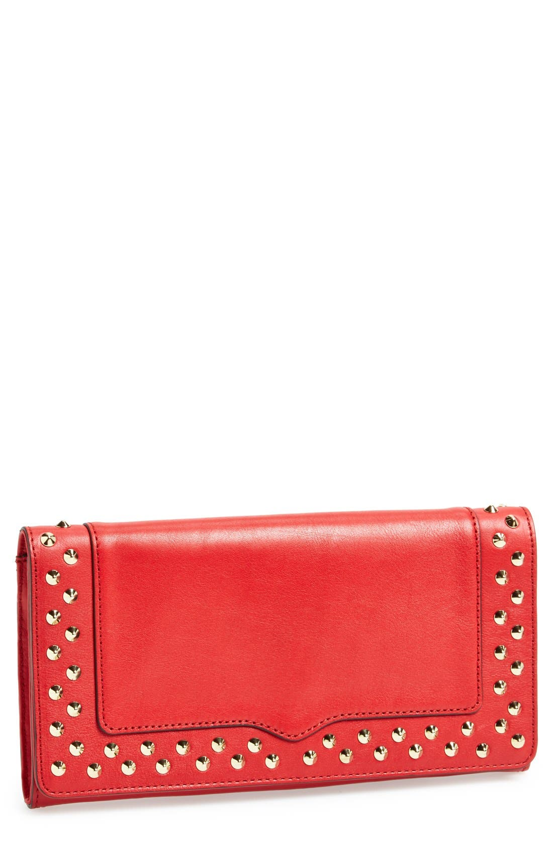 REBECCA MINKOFF,                             'Amorous' Clutch with Studs,                             Main thumbnail 1, color,                             600