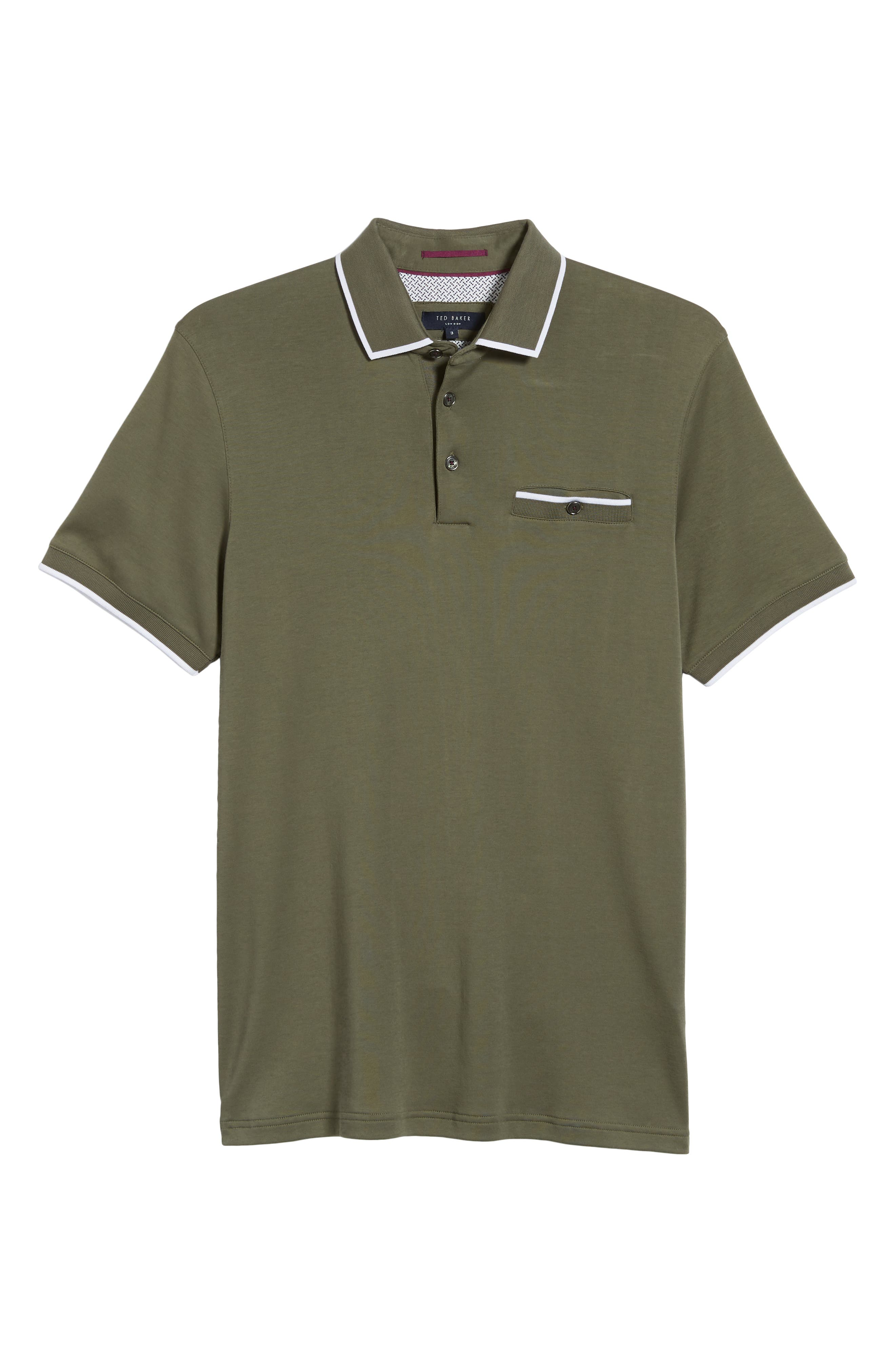 Jelly Slim Fit Tipped Pocket Polo,                             Alternate thumbnail 6, color,                             250