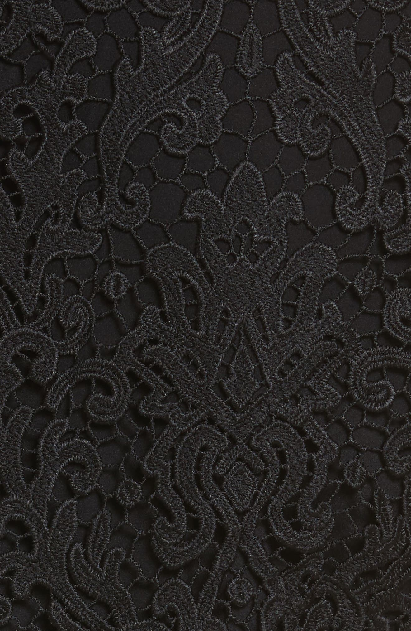 tapestry lace dress,                             Alternate thumbnail 5, color,                             001