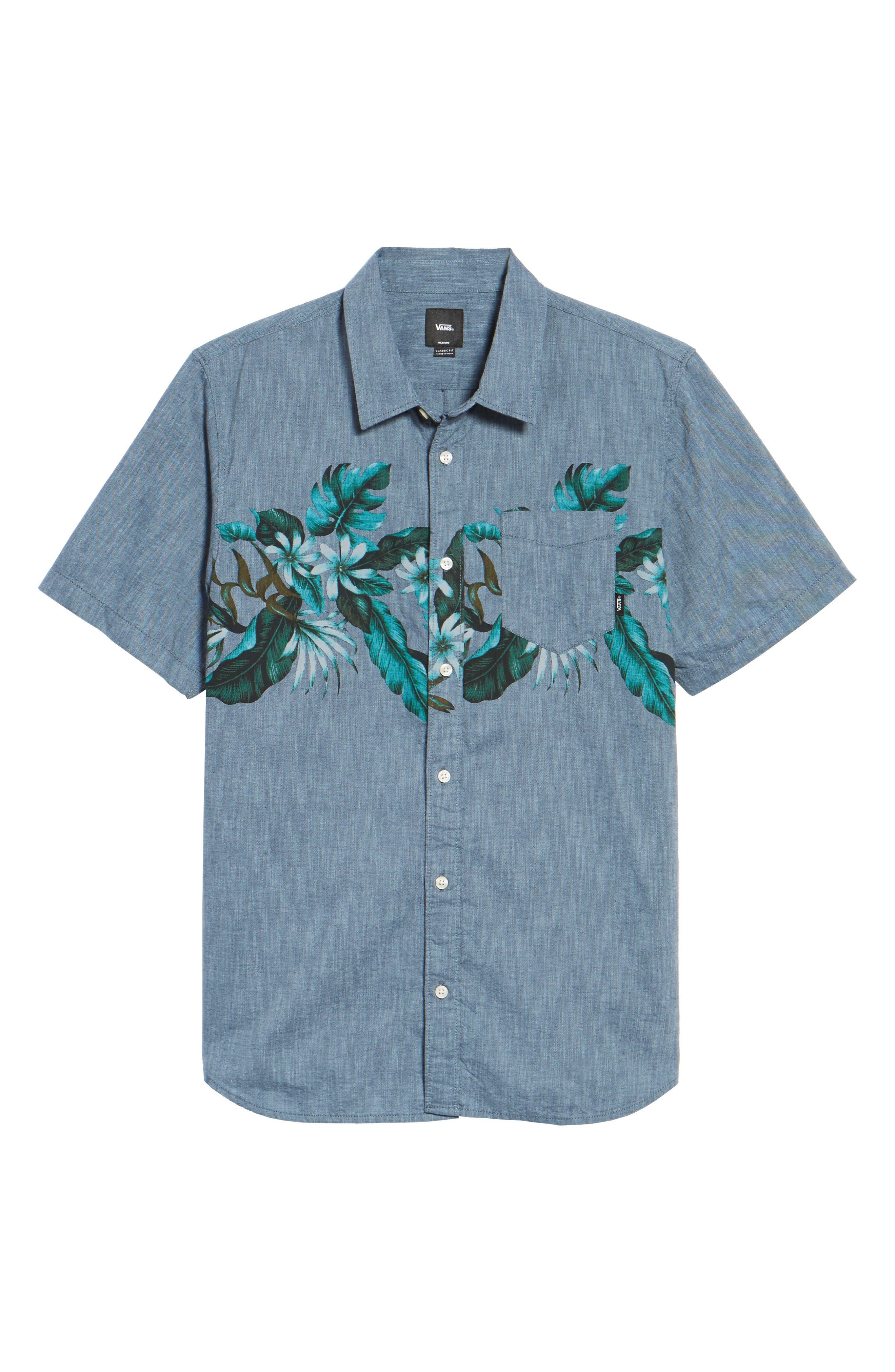 Floral Woven Shirt,                             Alternate thumbnail 6, color,