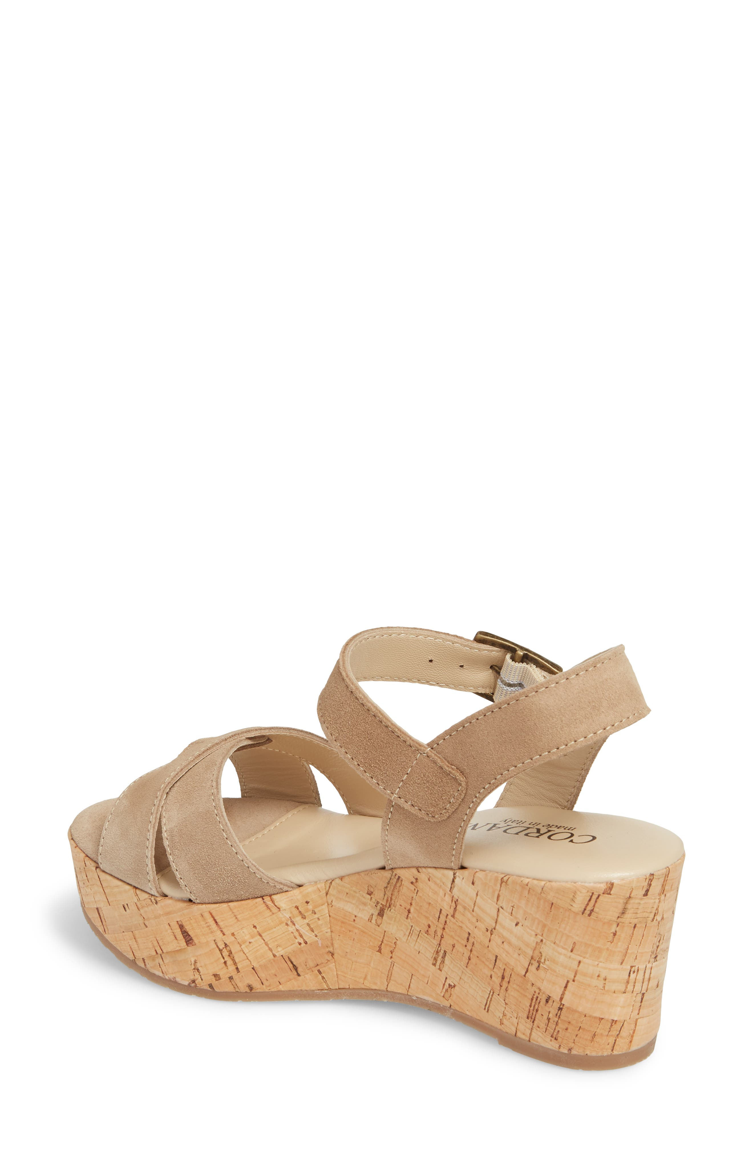 Candy Wedge Sandal,                             Alternate thumbnail 2, color,                             CORDA SUEDE