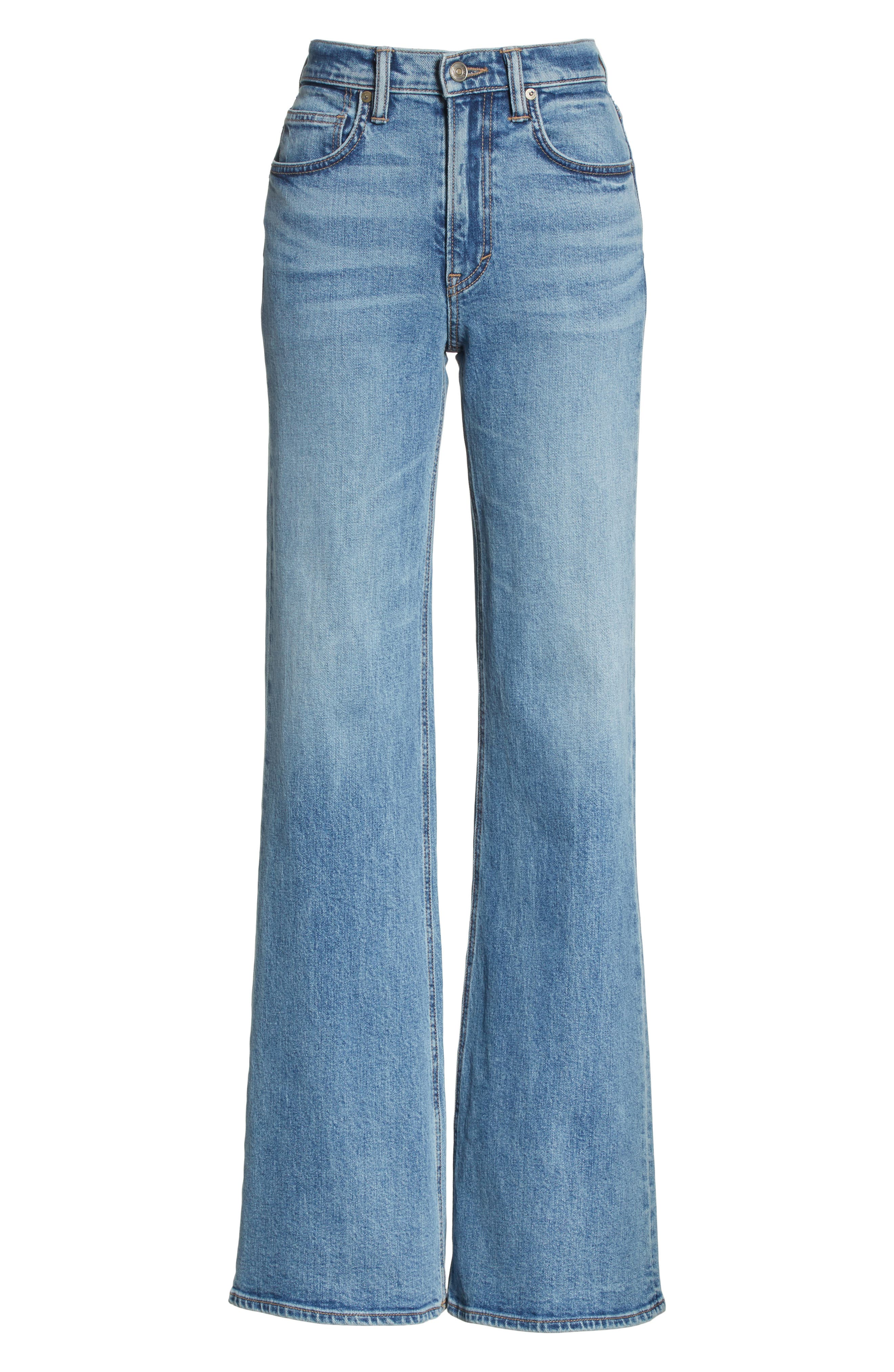 Wide Flare Leg Jeans,                             Alternate thumbnail 7, color,                             482