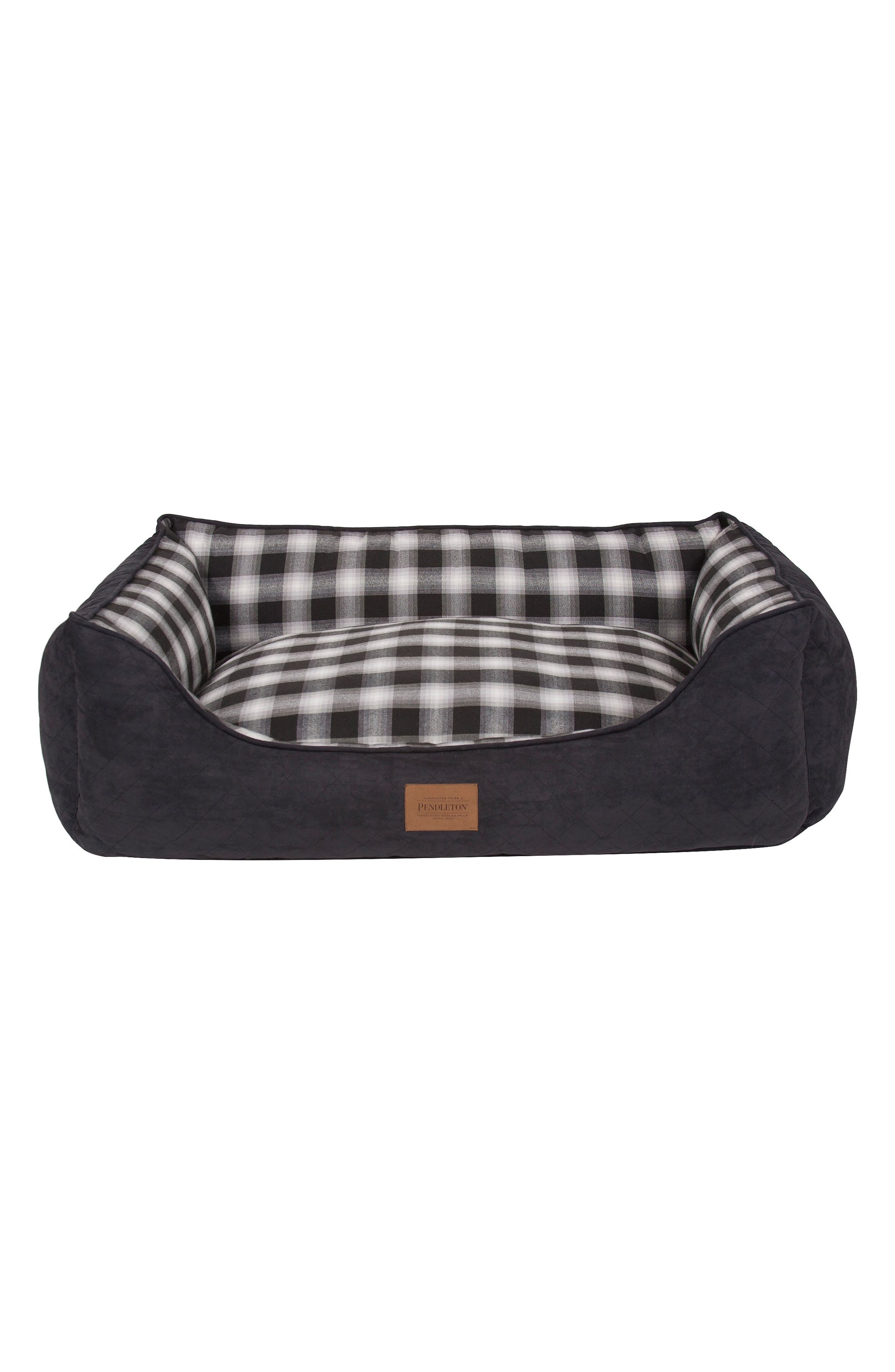 x Pendleton Classics Kuddler Pet Bed,                             Main thumbnail 1, color,                             CHARCOAL OMBRE