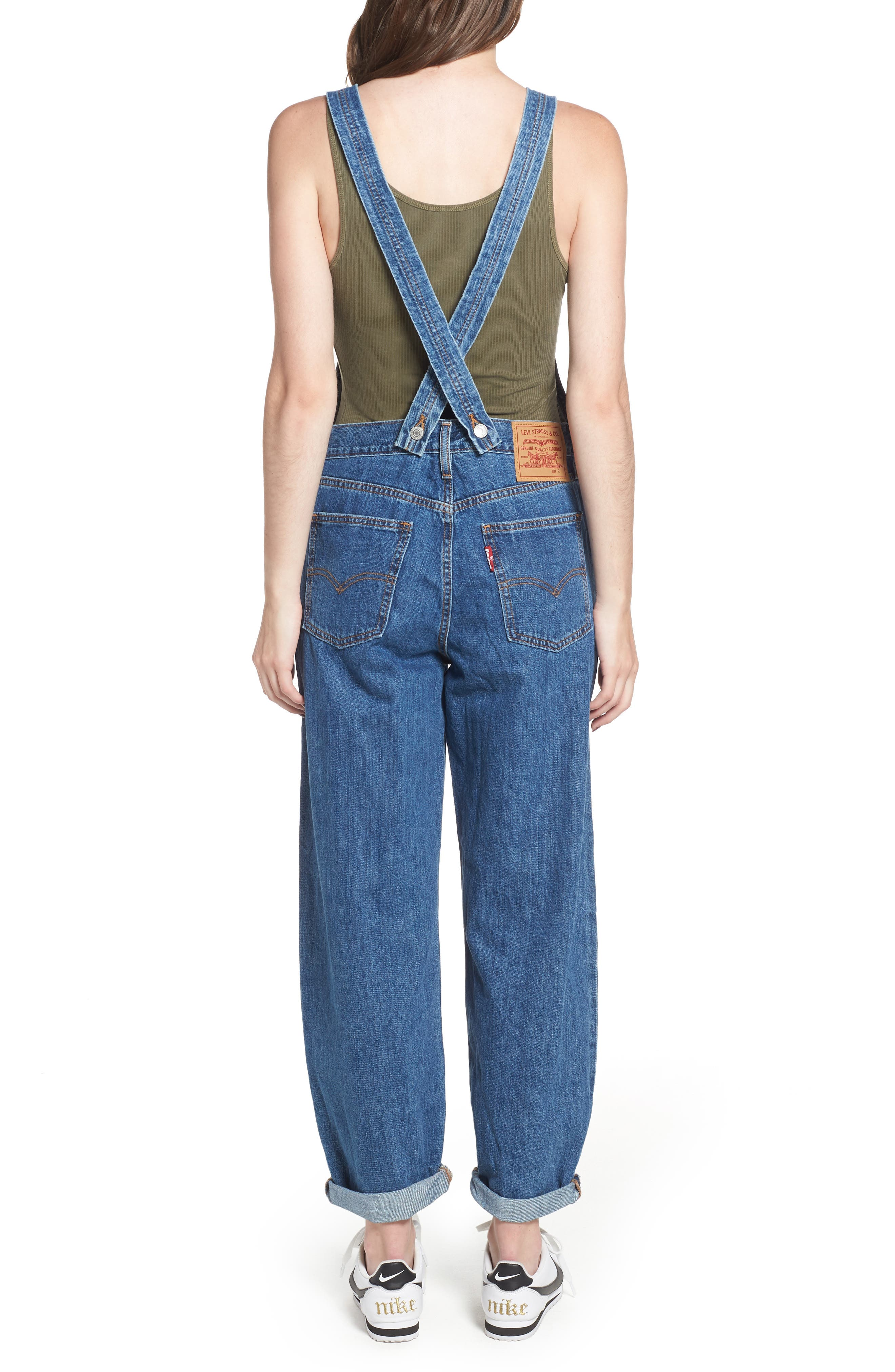 Baggy Overalls,                             Alternate thumbnail 2, color,                             401