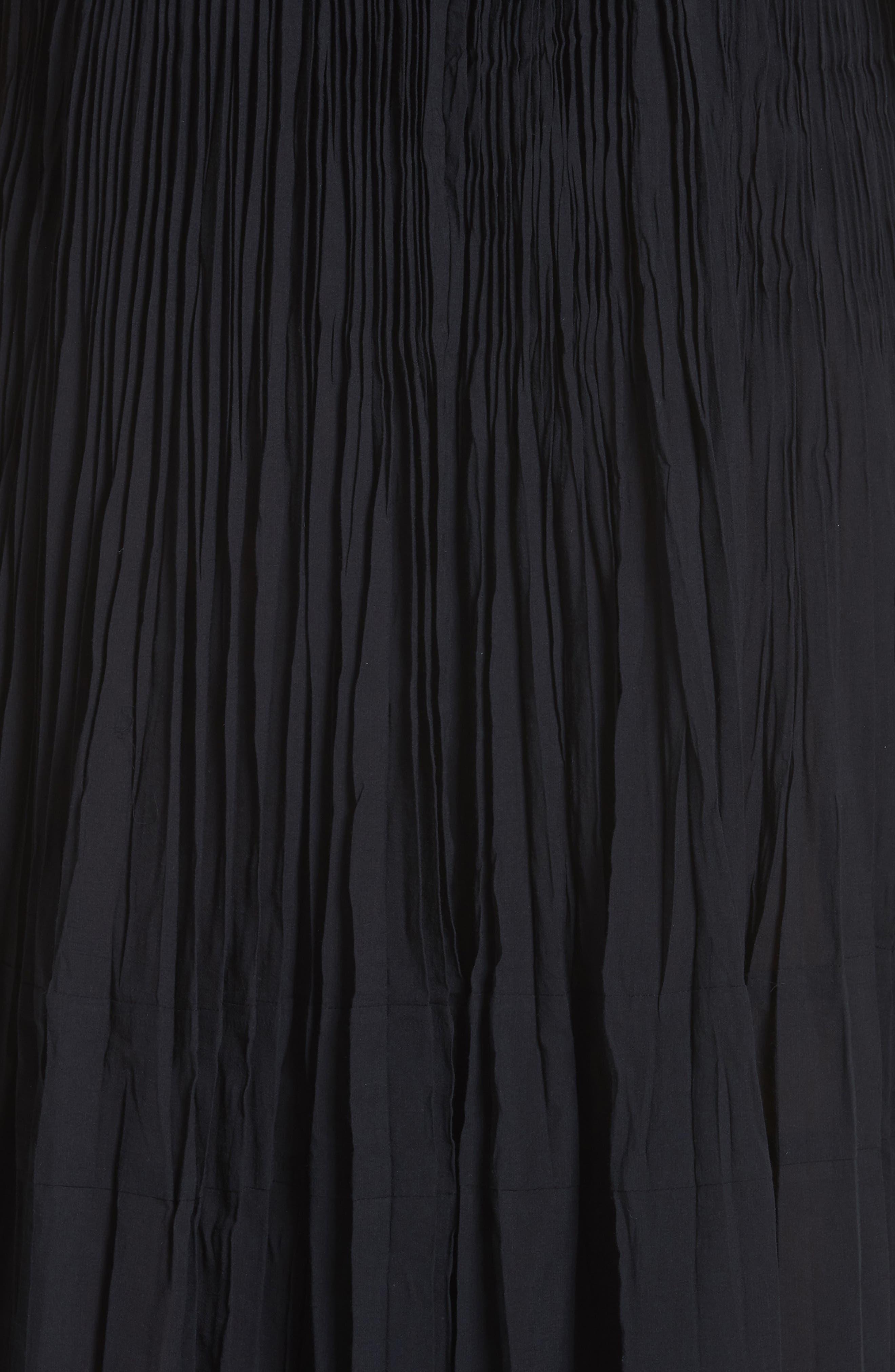 Pleated Chiffon Slipdress,                             Alternate thumbnail 4, color,                             001