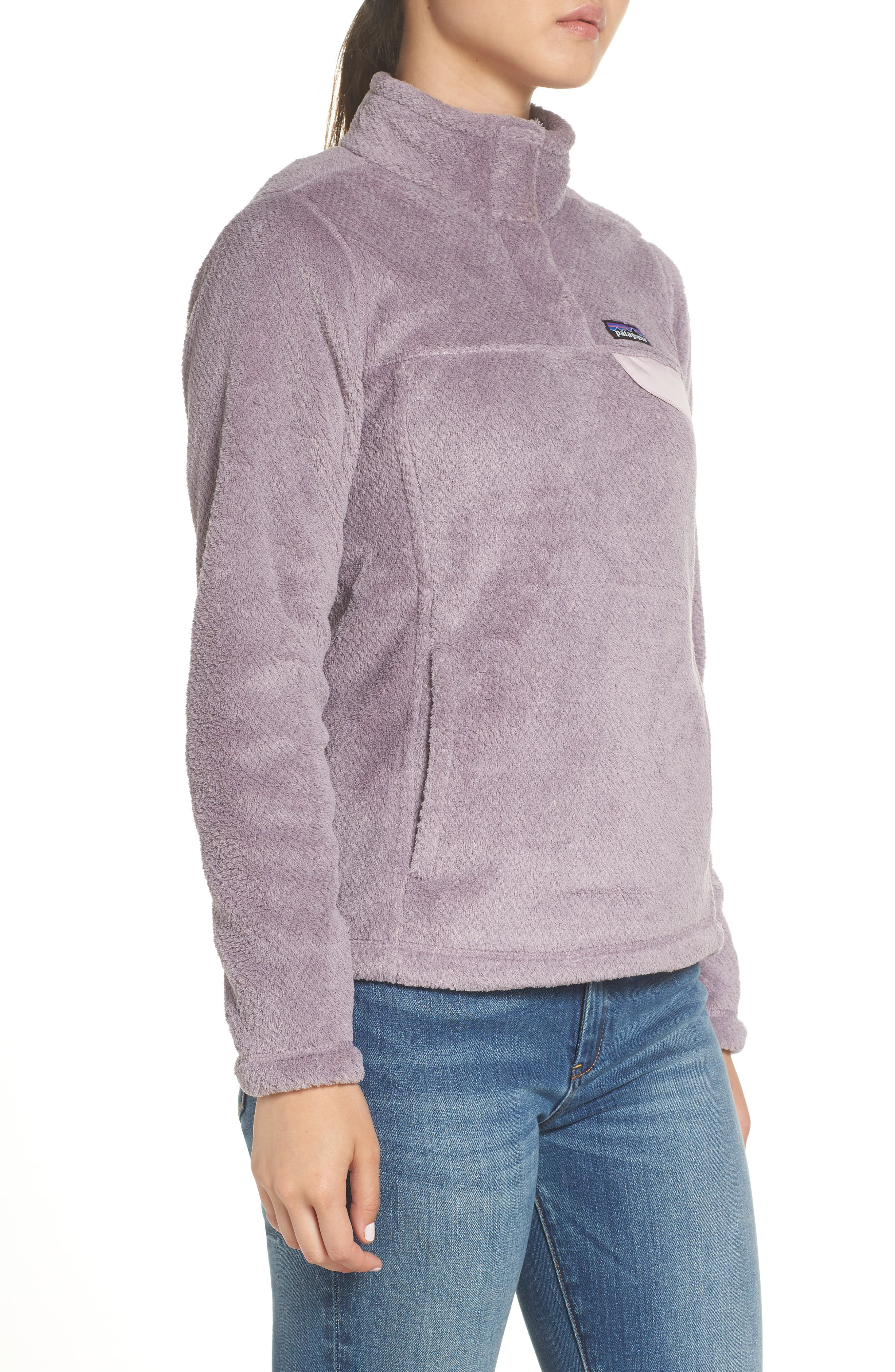 Re-Tool Snap-T<sup>®</sup> Fleece Pullover,                             Alternate thumbnail 3, color,                             SMOKEY VIOLET PURPLE X-DYE