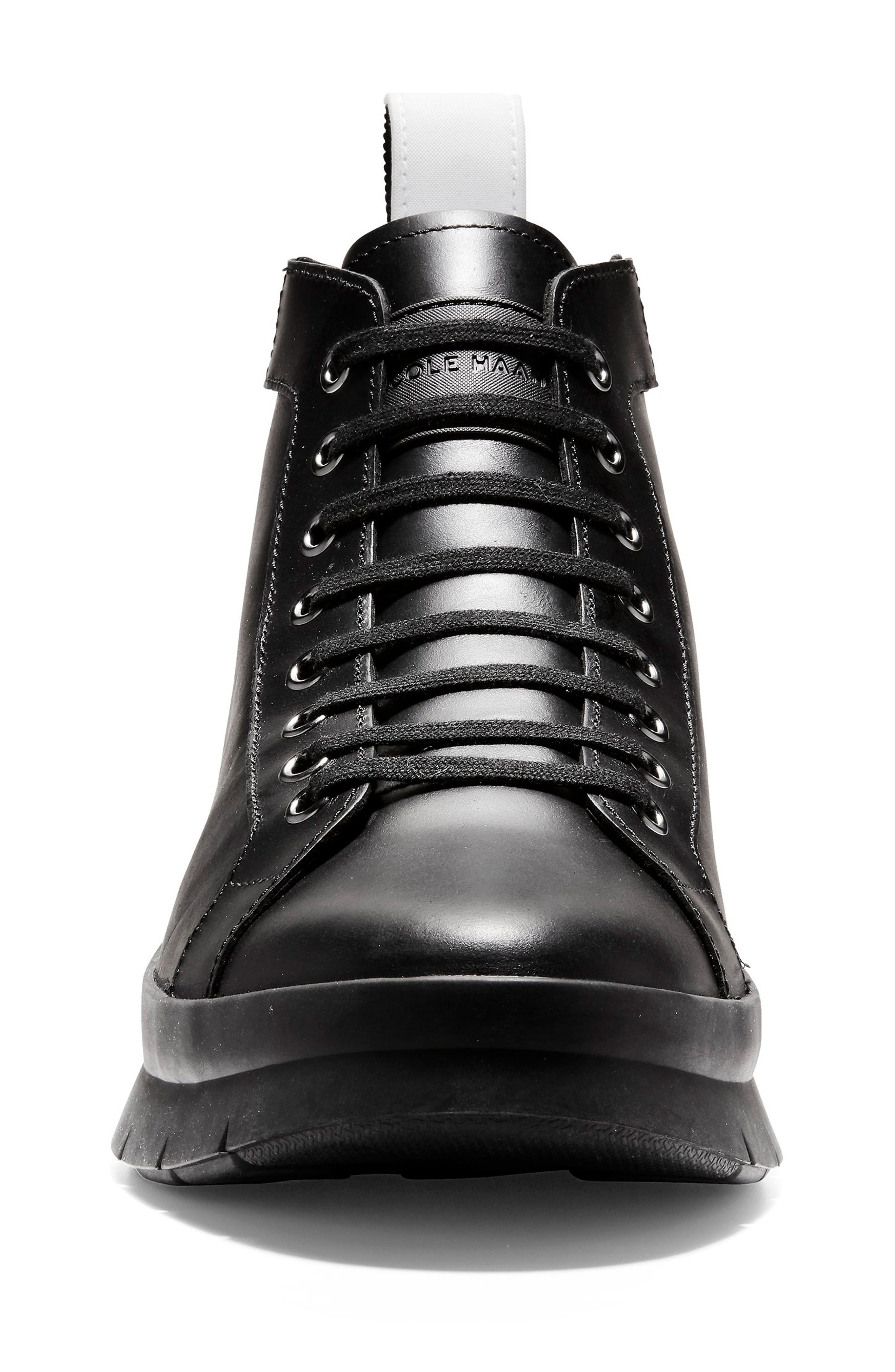 Pinch Utility Waterproof Boot,                             Alternate thumbnail 4, color,                             BLACK LEATHER