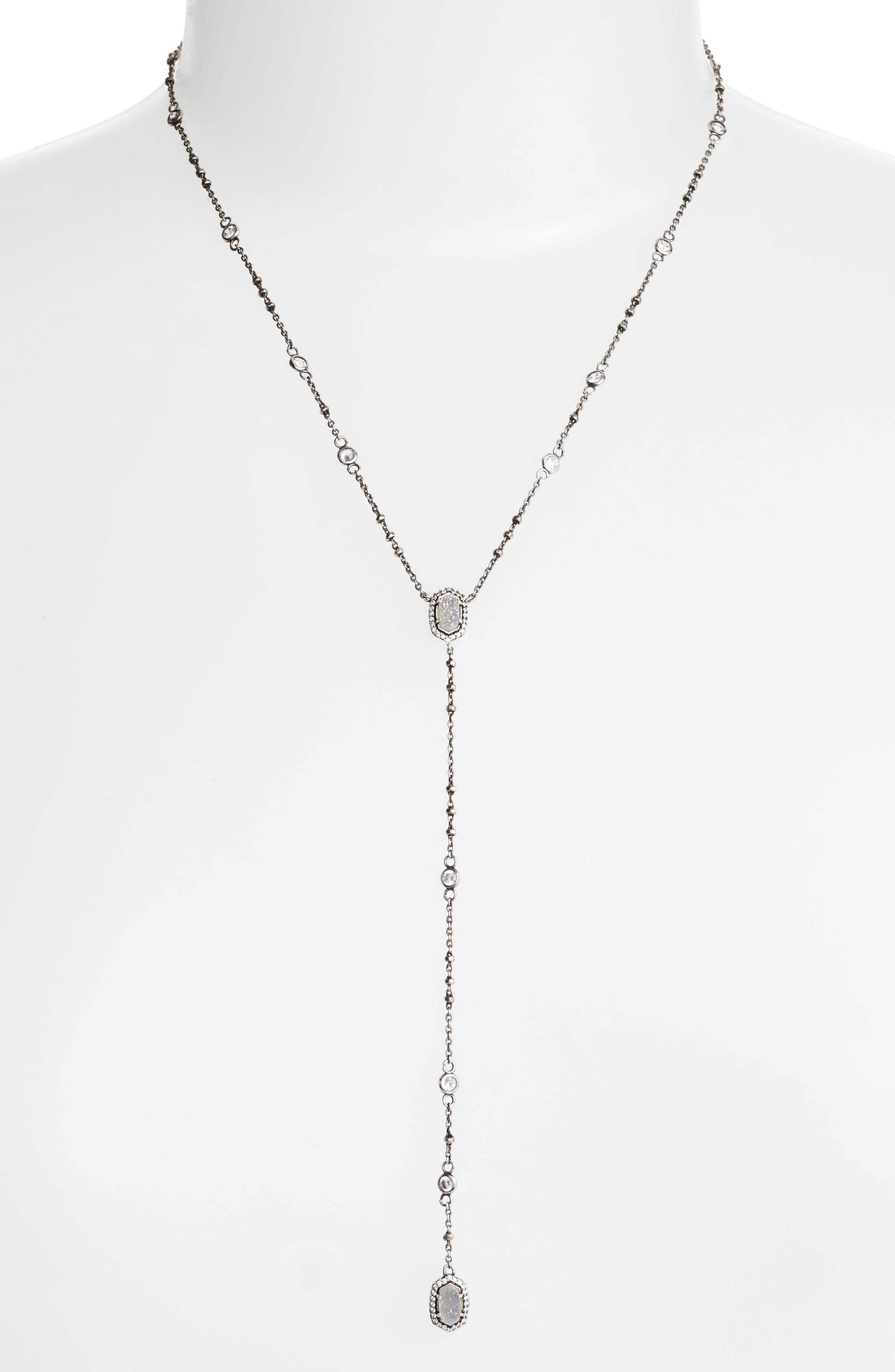 'Claudia' Crystal Y-Necklace,                         Main,                         color, 020