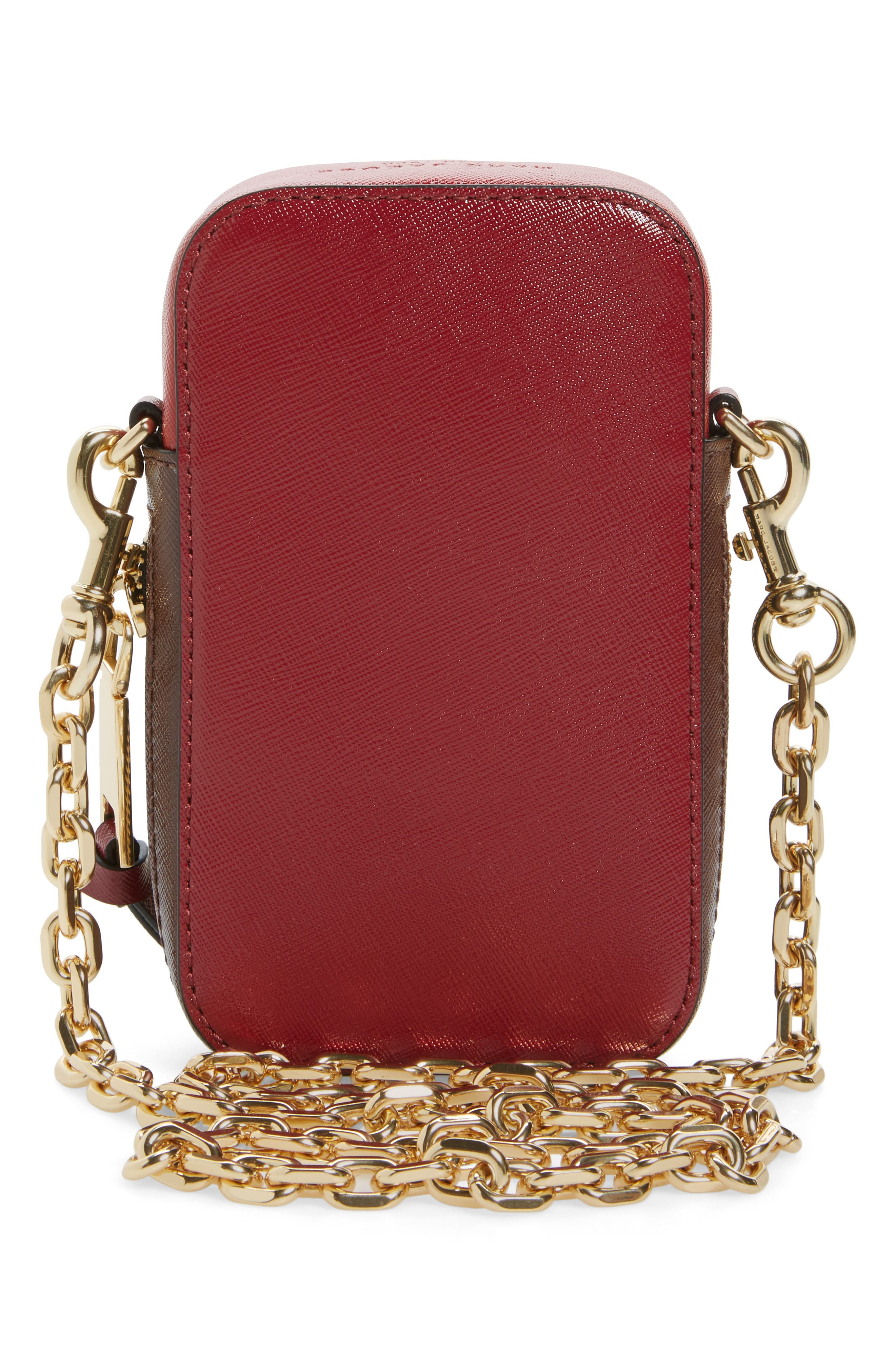 Hot Shot Saffiano Leather Shoulder Bag,                             Alternate thumbnail 12, color,