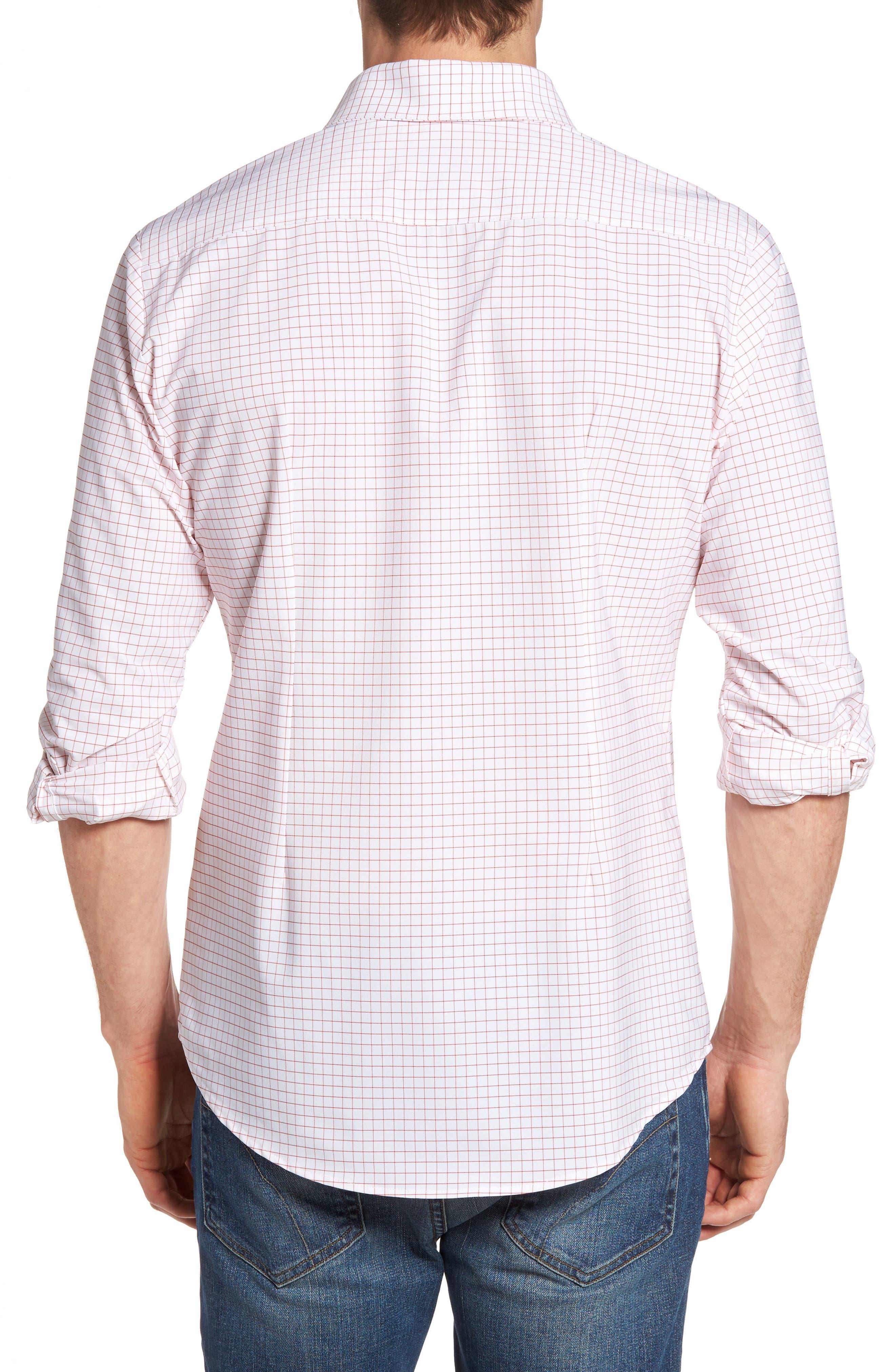 York Slim Fit Tattersall Performance Sport Shirt,                             Alternate thumbnail 2, color,                             600