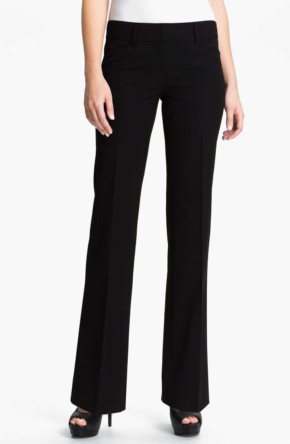 'Gramercy' Flare Leg Pants,                             Main thumbnail 1, color,                             001