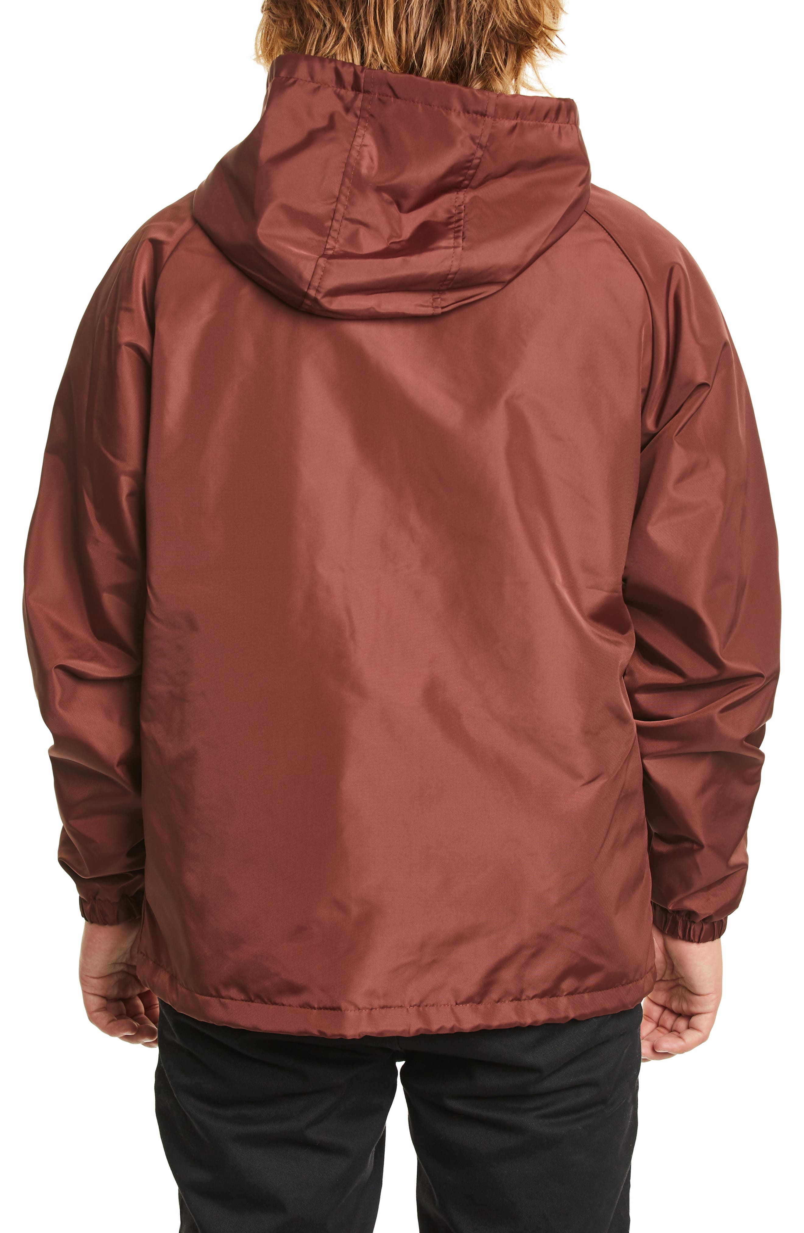 Claxton Water Repellent Hooded Windbreaker,                             Alternate thumbnail 2, color,                             CHESTNUT
