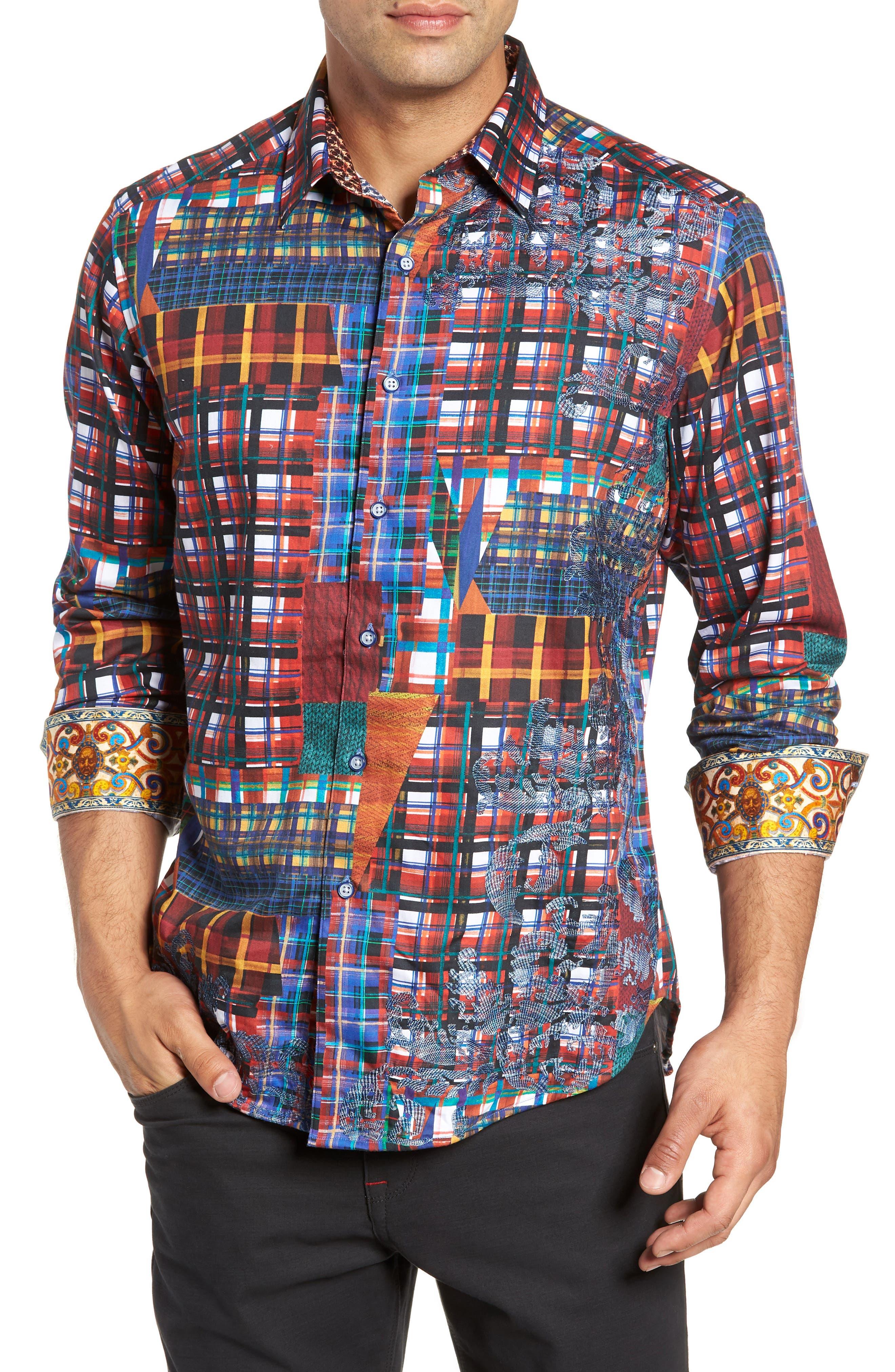 ROBERT GRAHAM,                             Hurst Classic Fit Sport Shirt,                             Main thumbnail 1, color,                             600