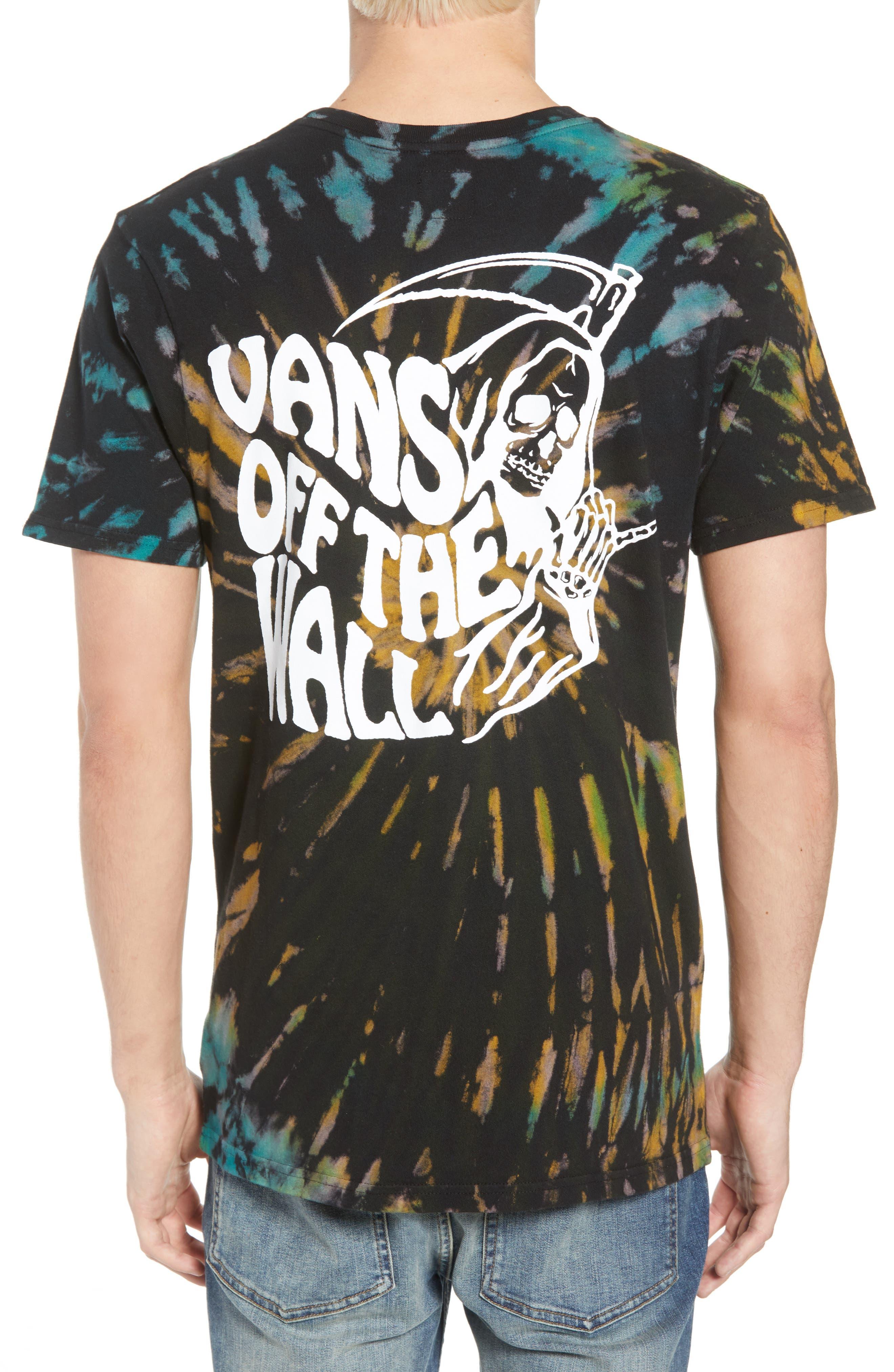 Tie Dye Reaper T-Shirt,                             Alternate thumbnail 2, color,                             BLACK