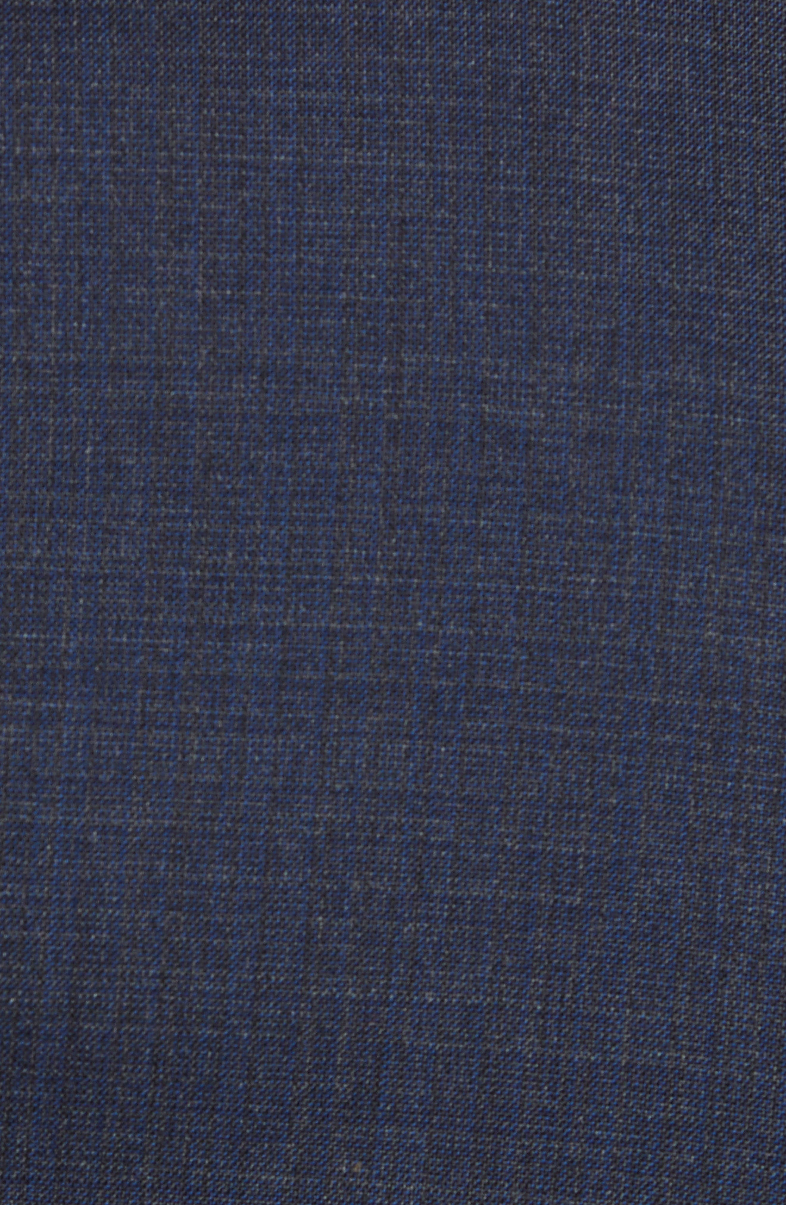 Trim Fit Stretch Solid Wool Suit,                             Alternate thumbnail 7, color,                             NAVY