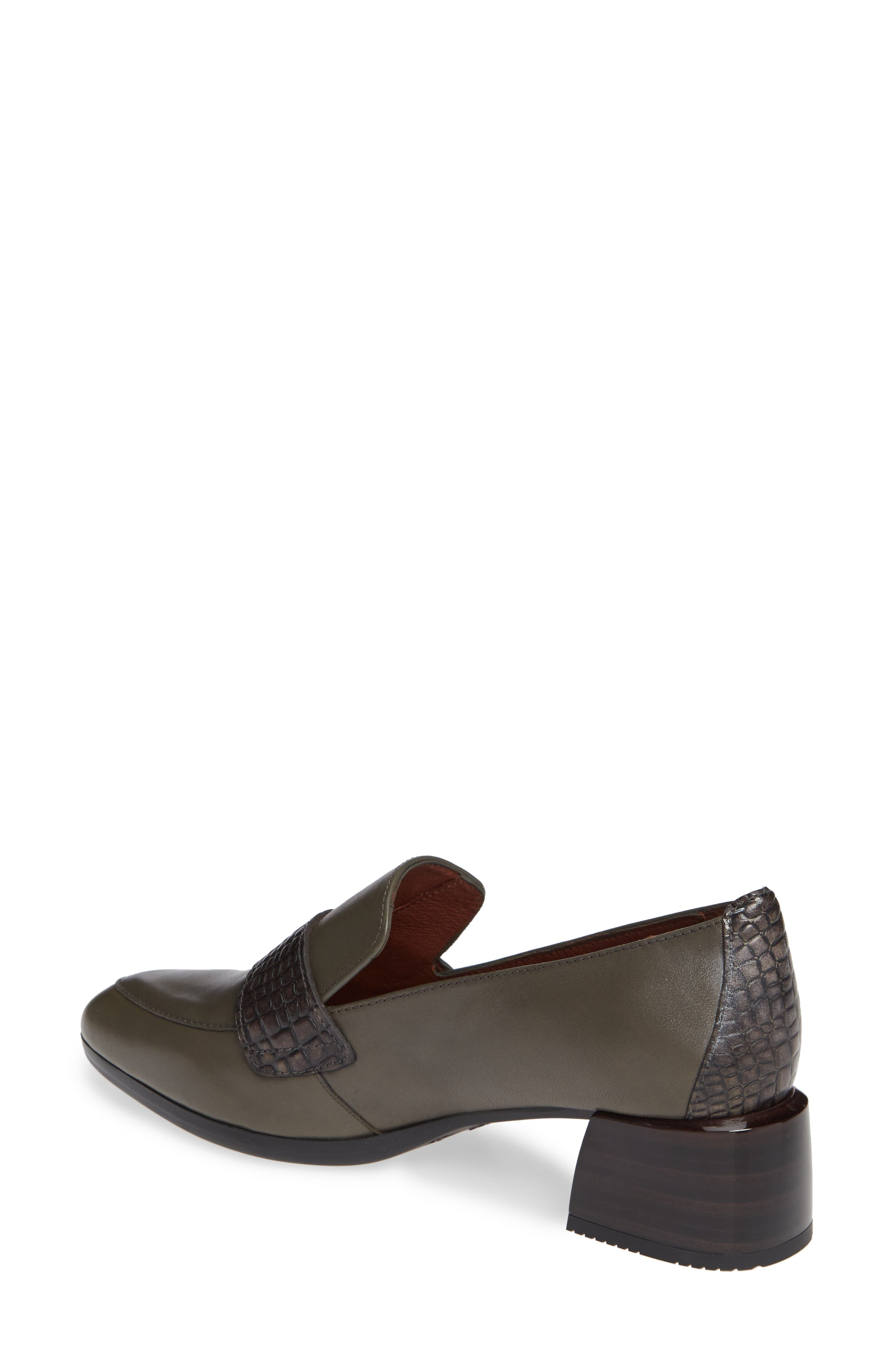 HISPANITAS,                             Gabrianna Block Heel Loafer,                             Alternate thumbnail 2, color,                             SOHO ARMY/ CAIMAN ARMY LEATHER