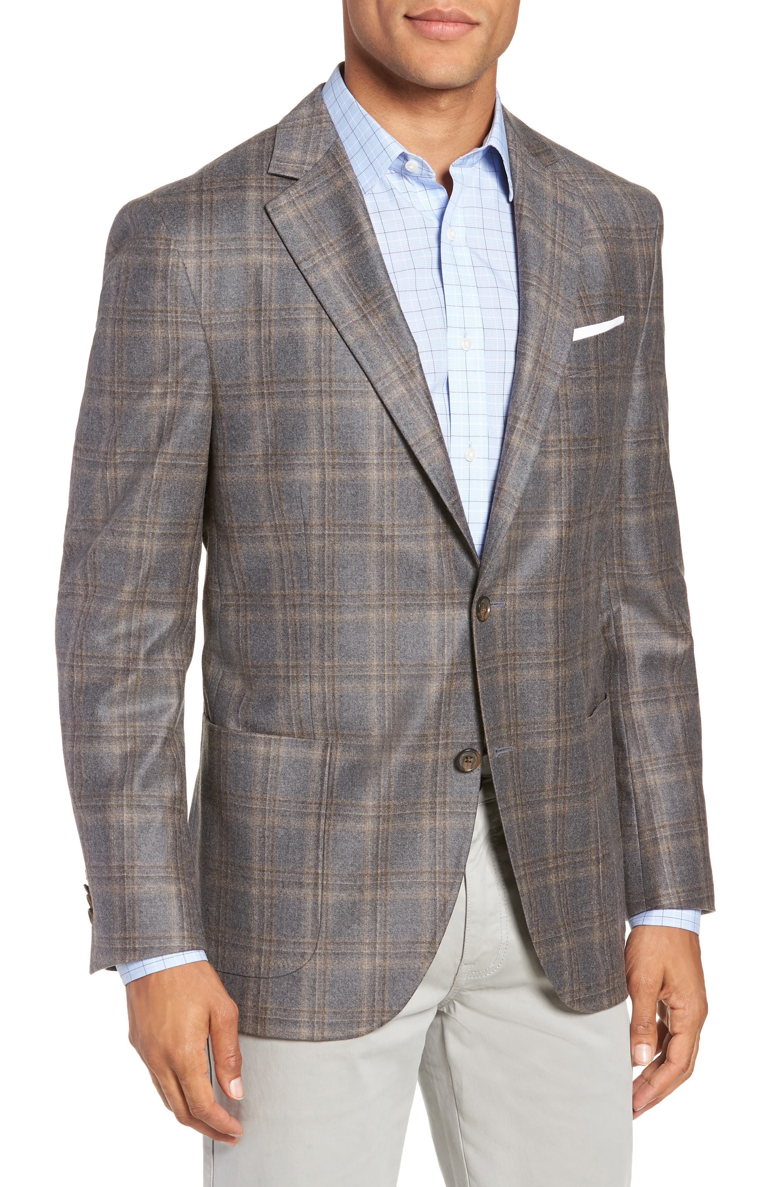 Hyperlight Classic Fit Wool Sport Coat,                         Main,                         color, GREY