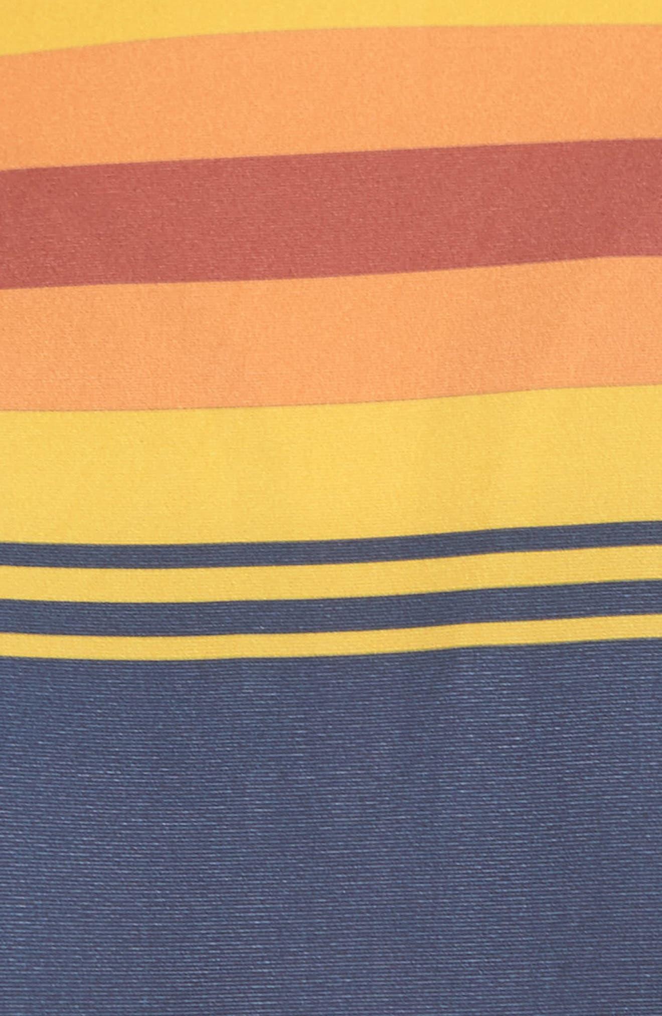 Quick Dry Pendleton Grand Canyon High Neck Bikini Top,                             Alternate thumbnail 5, color,                             402