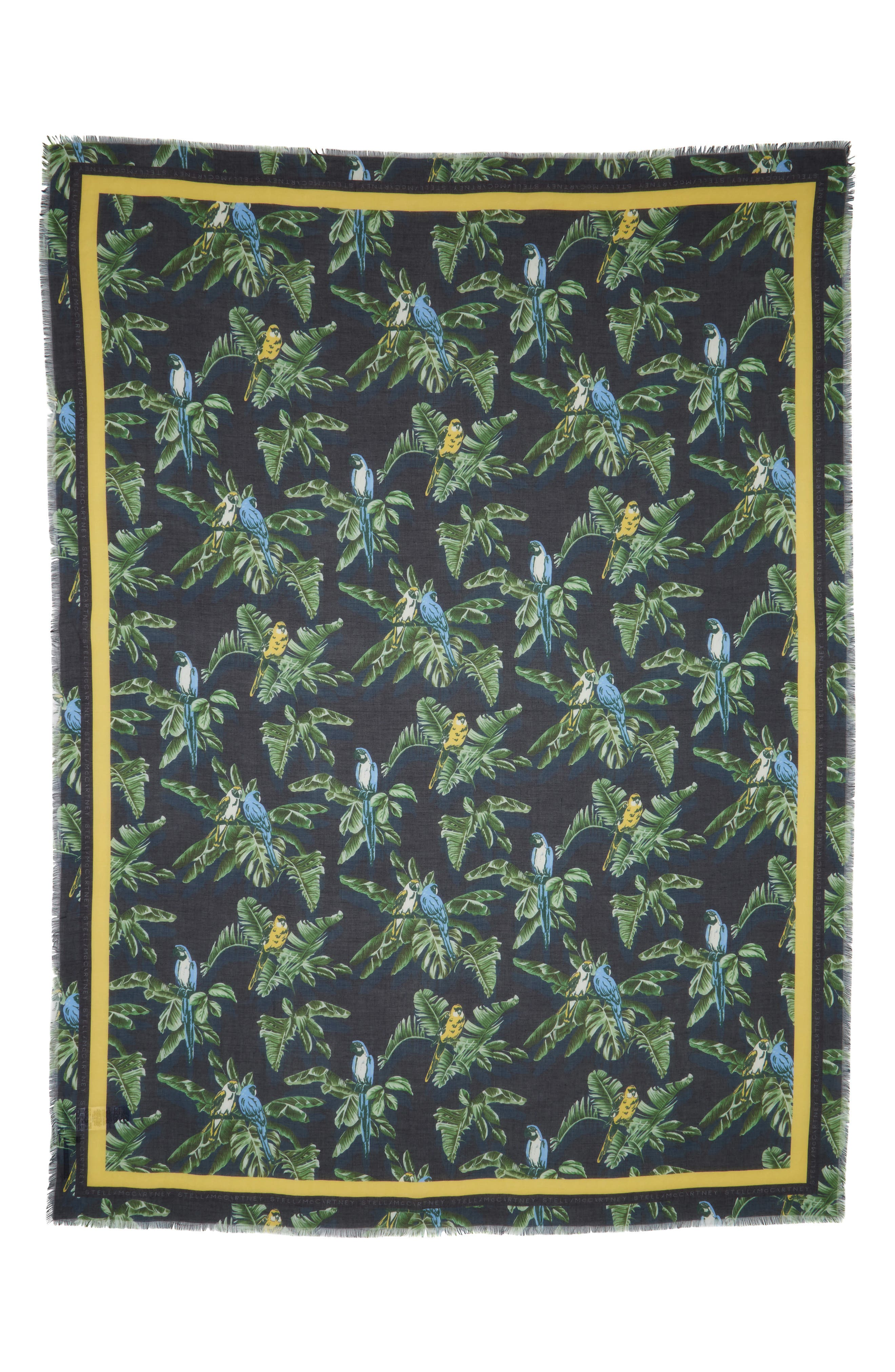 Bird Of Paradise Silk & Modal Scarf,                         Main,                         color, MULTICOLOR