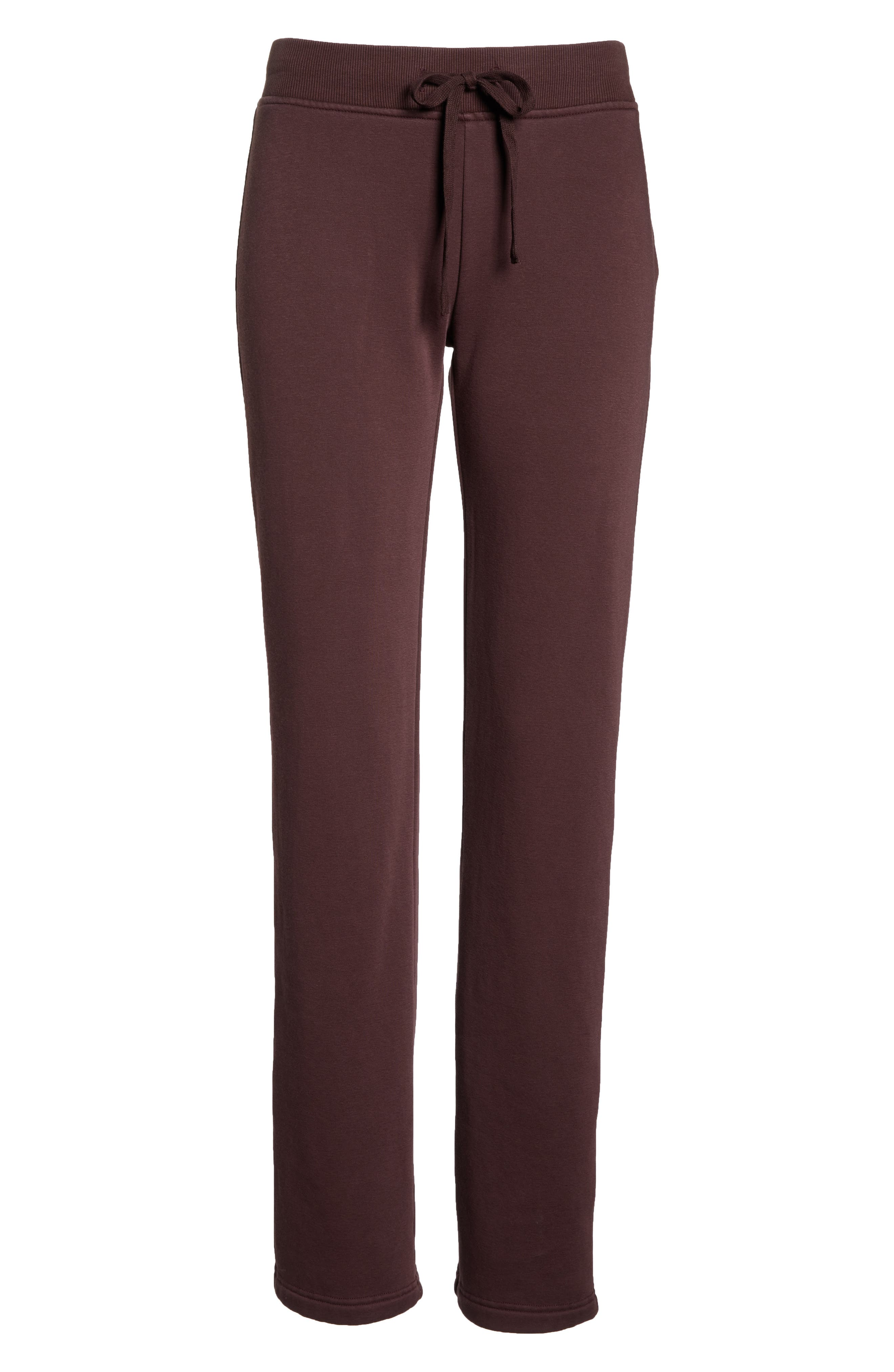 Penny Washed Lounge Pants,                             Alternate thumbnail 6, color,                             PORT