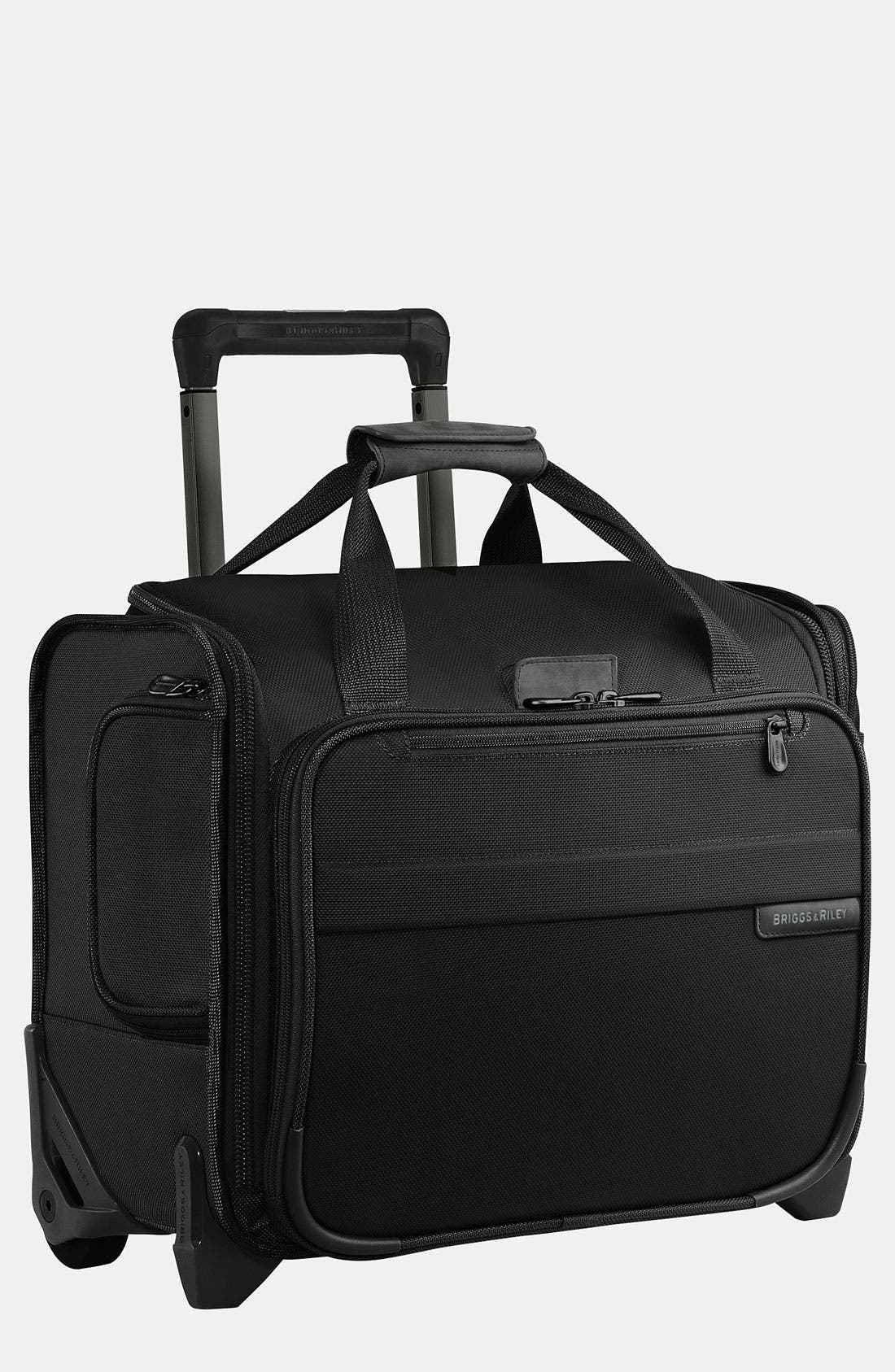 'Baseline' Rolling Cabin Bag,                             Main thumbnail 1, color,                             BLACK