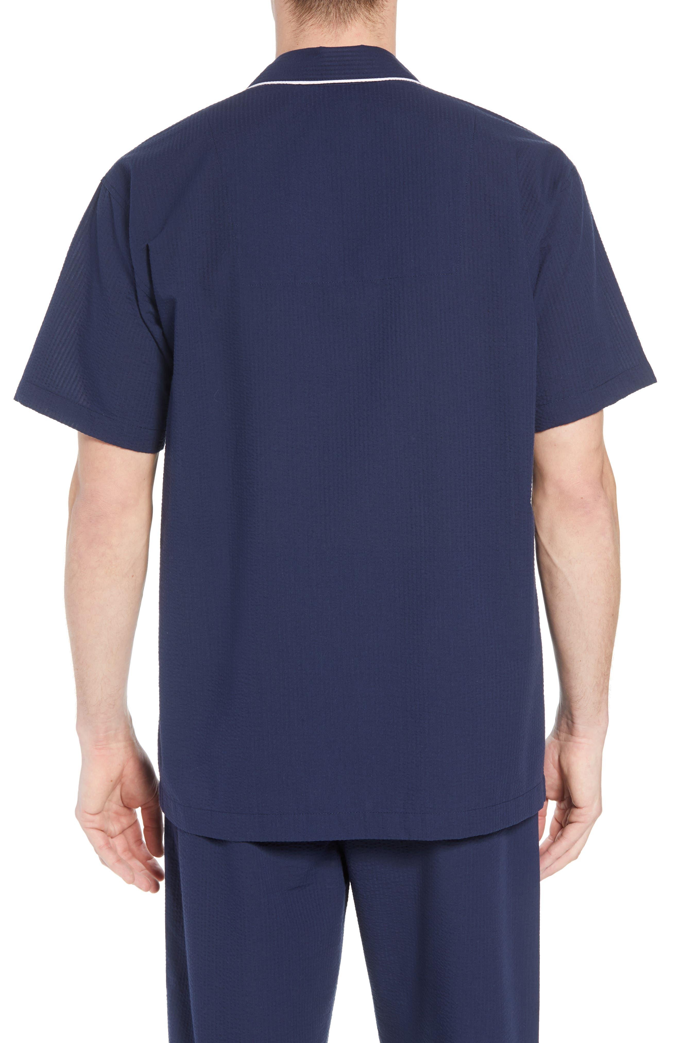 Seersucker Pajama Shirt,                             Alternate thumbnail 2, color,                             421