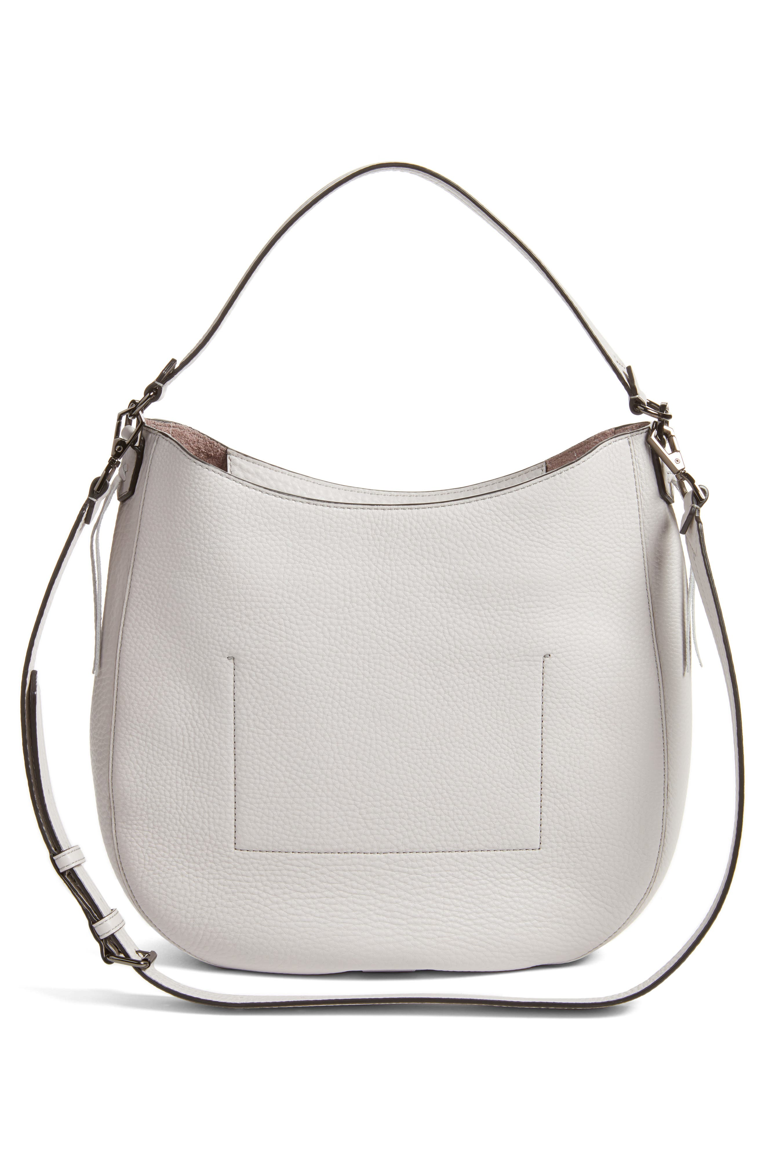 Unlined Convertible Whipstitch Hobo,                             Alternate thumbnail 16, color,