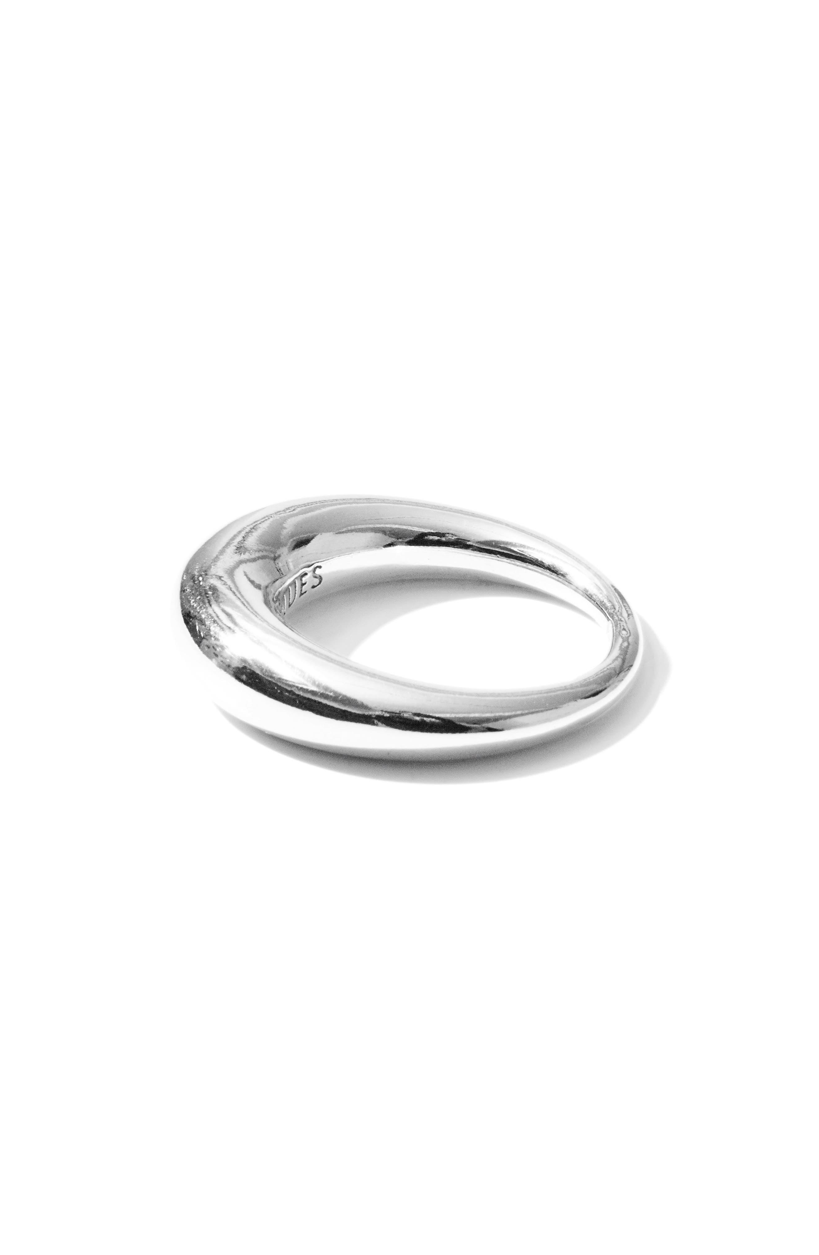 Large Snake Polished Silver Ring,                             Alternate thumbnail 4, color,                             POLISHED SILVER