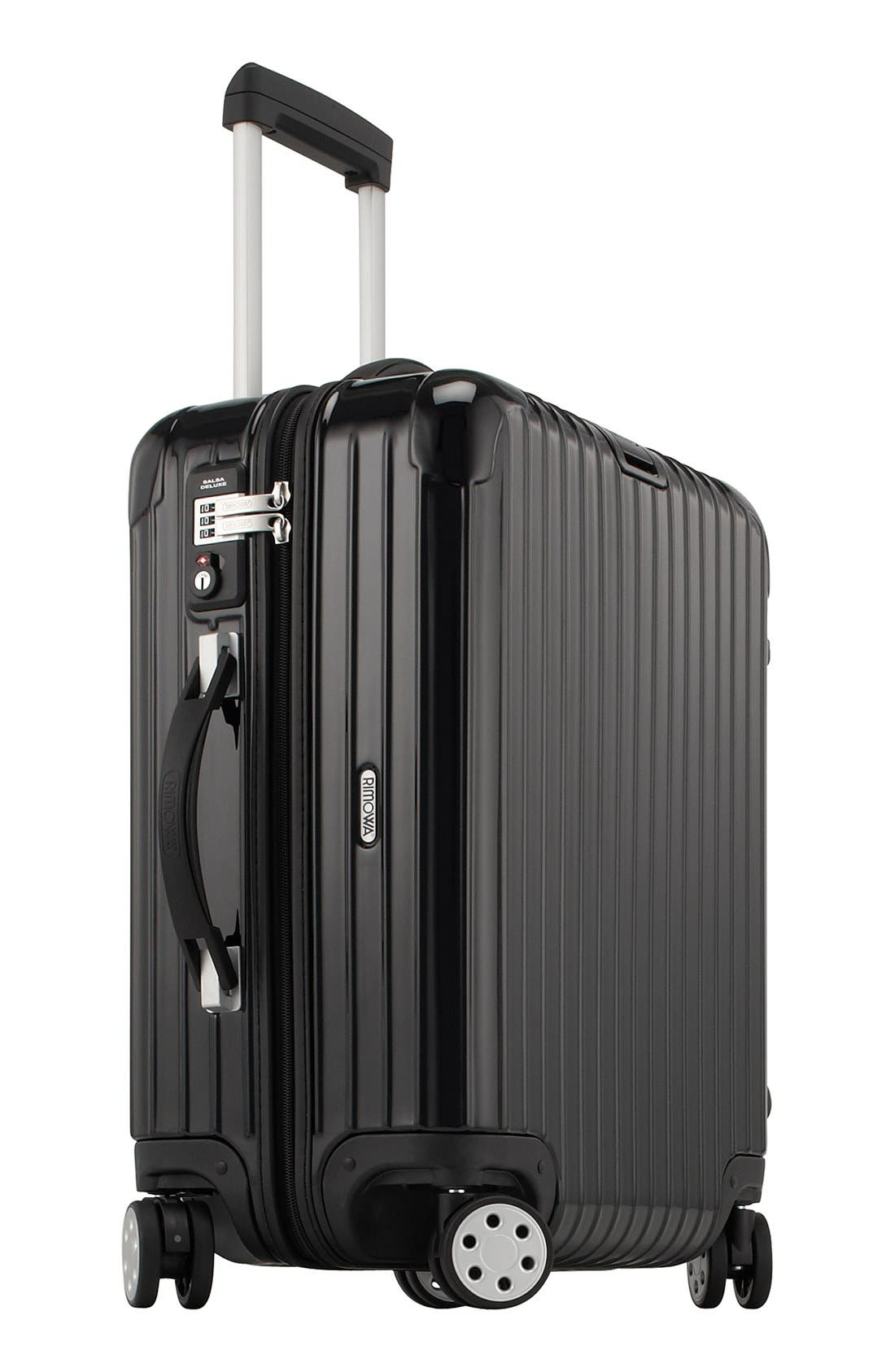 Salsa Deluxe 22-Inch Cabin Multiwheel<sup>®</sup> Carry-On,                             Alternate thumbnail 3, color,                             BLACK