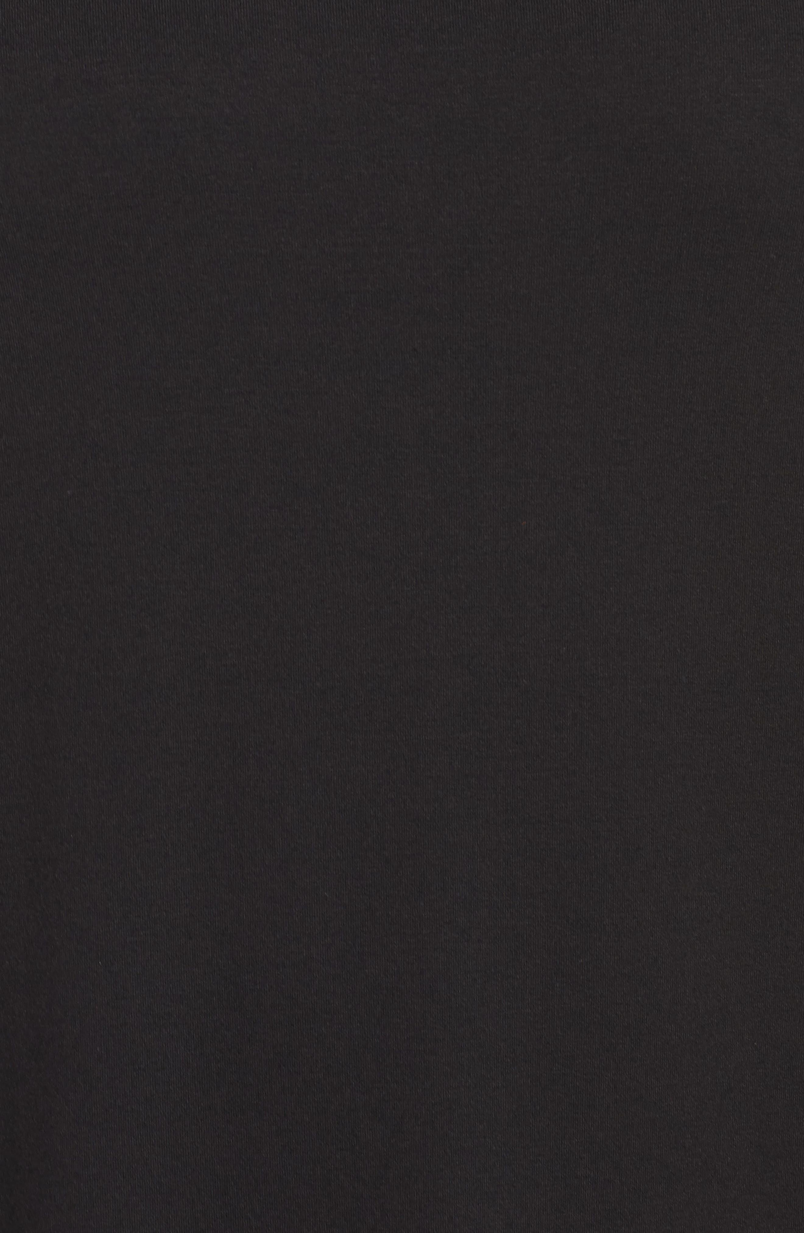 Jersey Midi Dress,                             Alternate thumbnail 6, color,                             BLACK