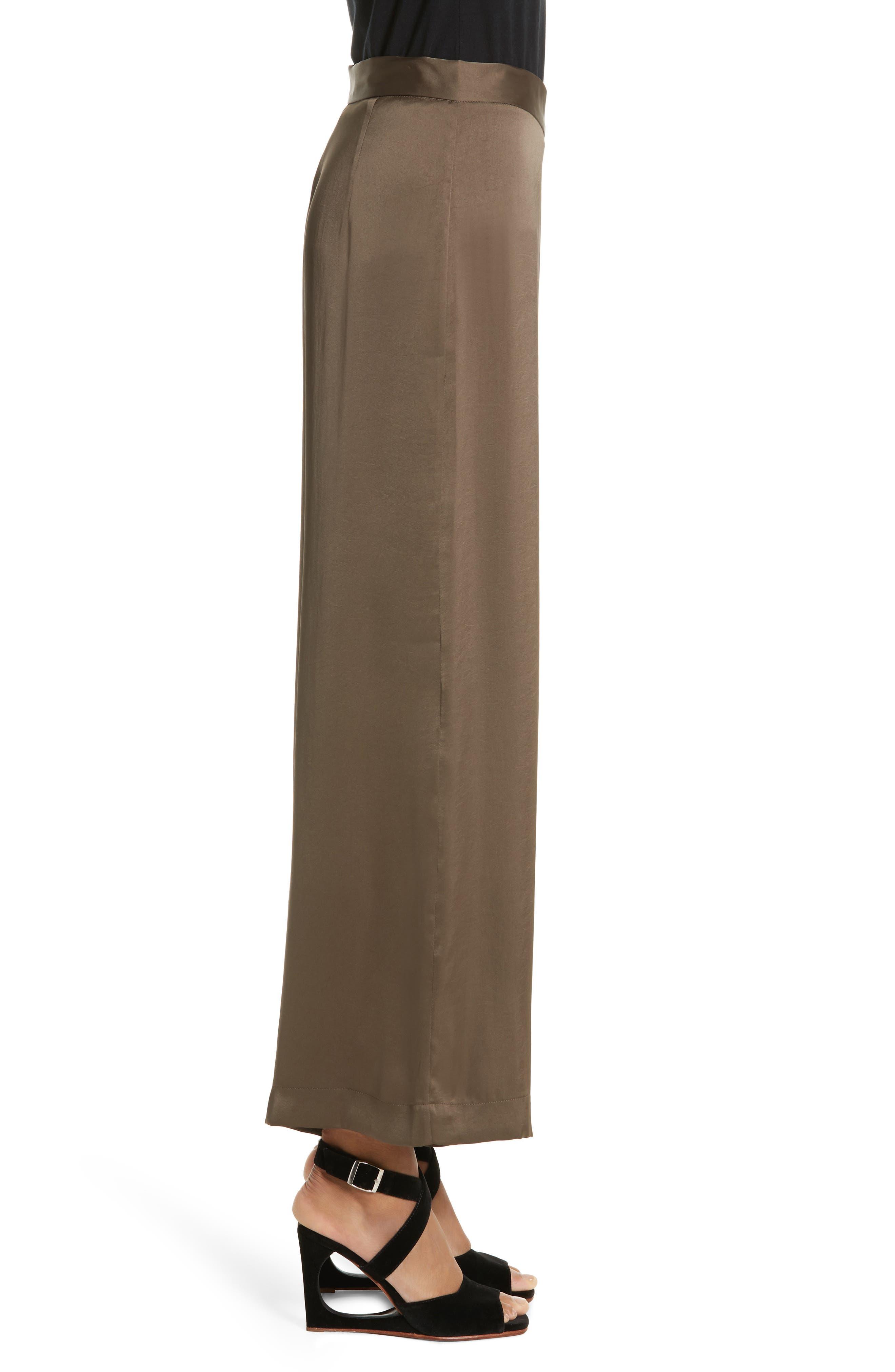 Cleric Satin Wide Leg Pants,                             Alternate thumbnail 3, color,                             265